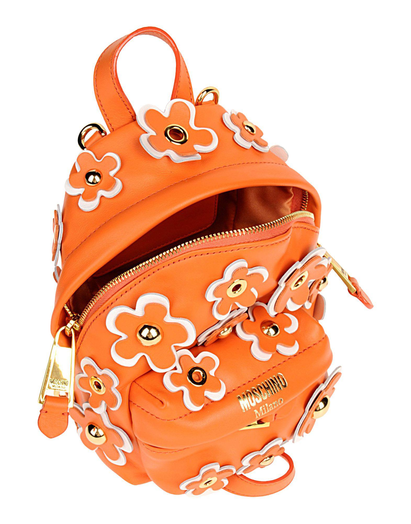 d954110c1d Lyst - Moschino Backpacks   Fanny Packs in Orange