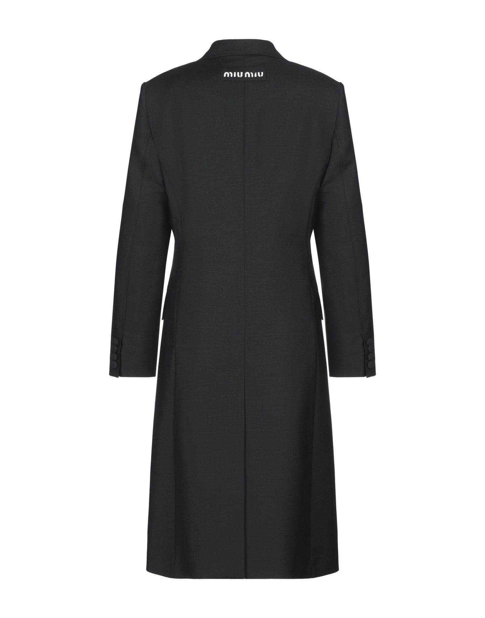 Manteau long Miu Miu en coloris Noir PnCQQ