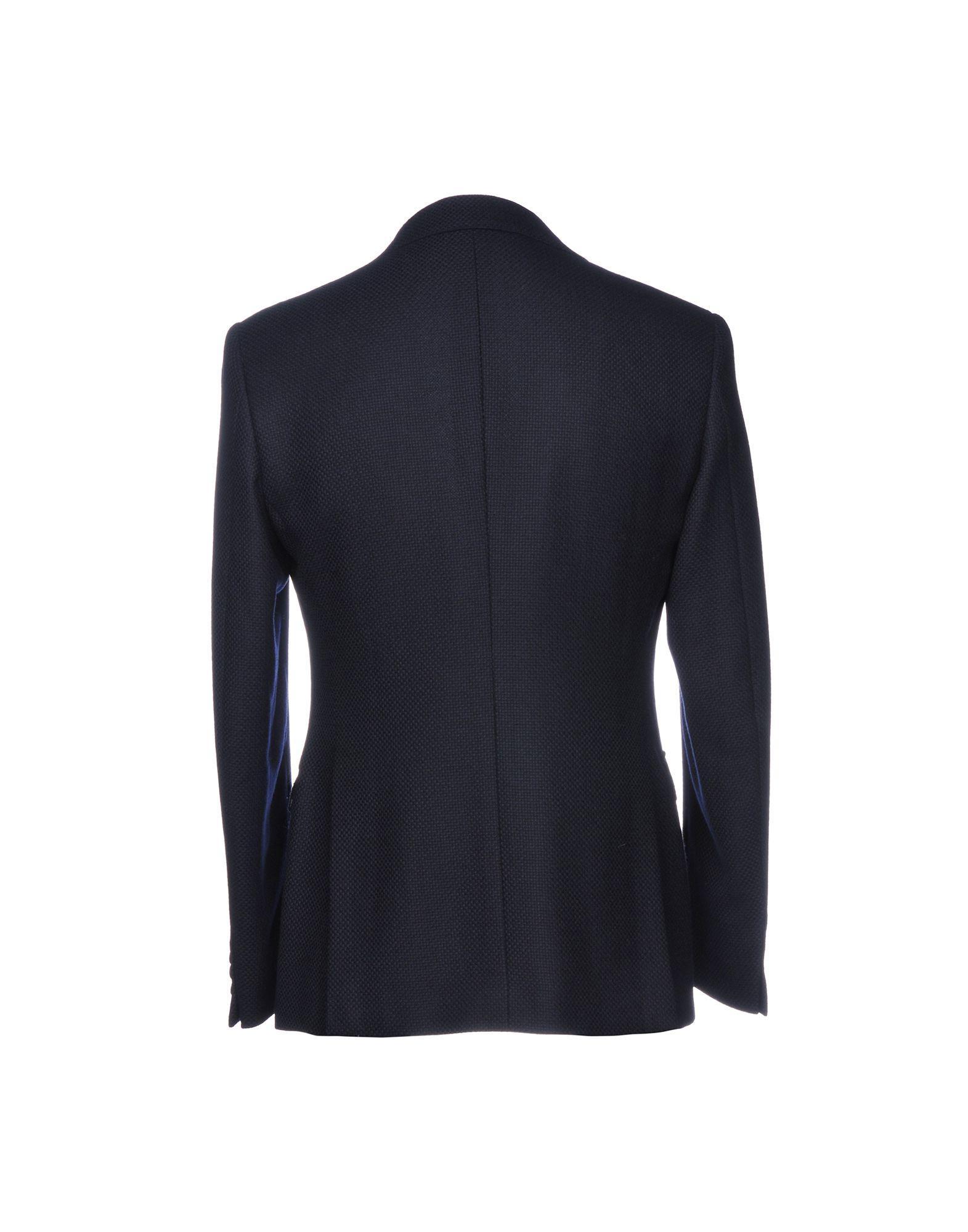 Tonello Tweed Blazer in Dark Blue (Blue) for Men