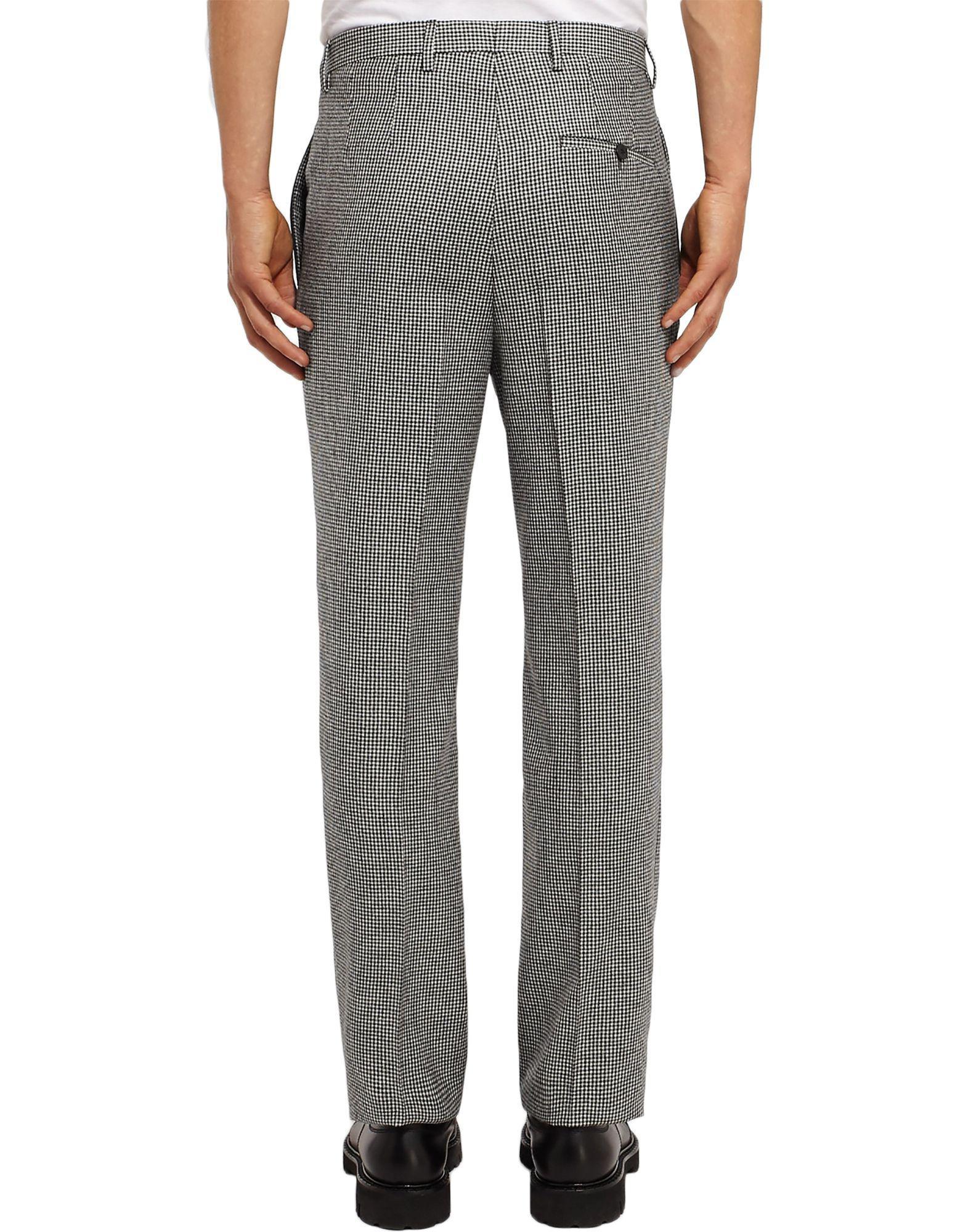 Lanvin Wool Casual Pants in Black for Men