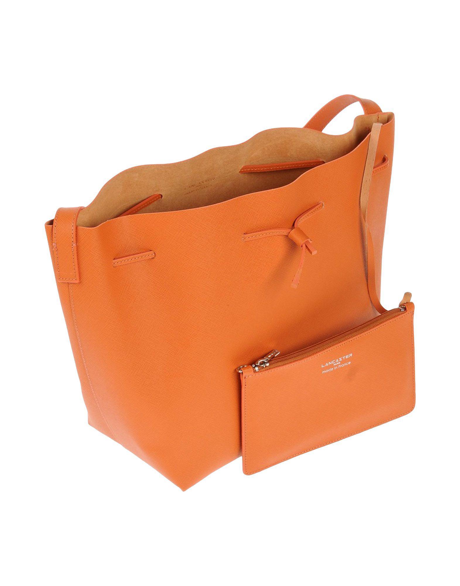 Lancaster Leather Cross-body Bag in Orange