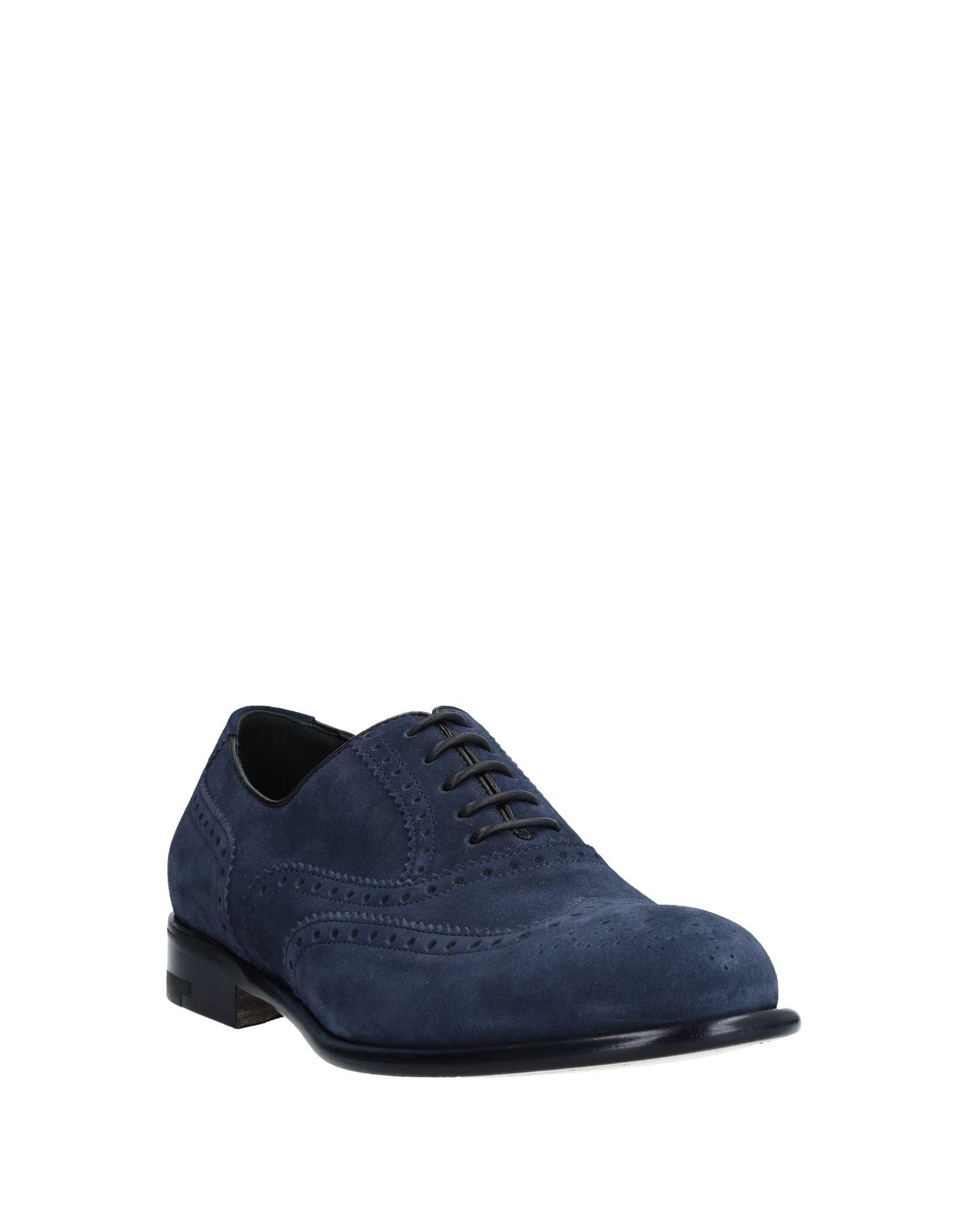 A.Testoni Lace-up Shoe in Blue for Men