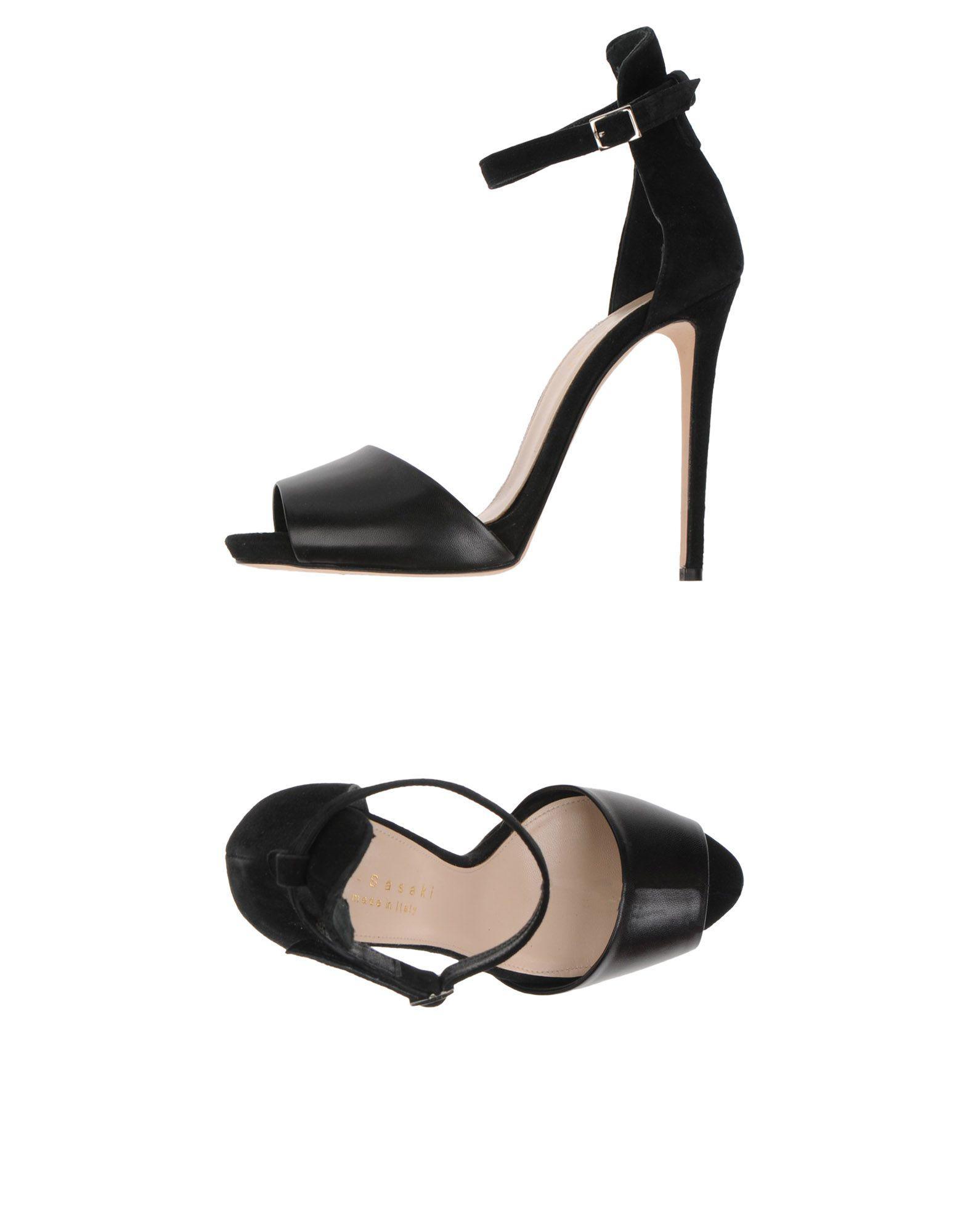 MEG SASAKI Sandals Black Women