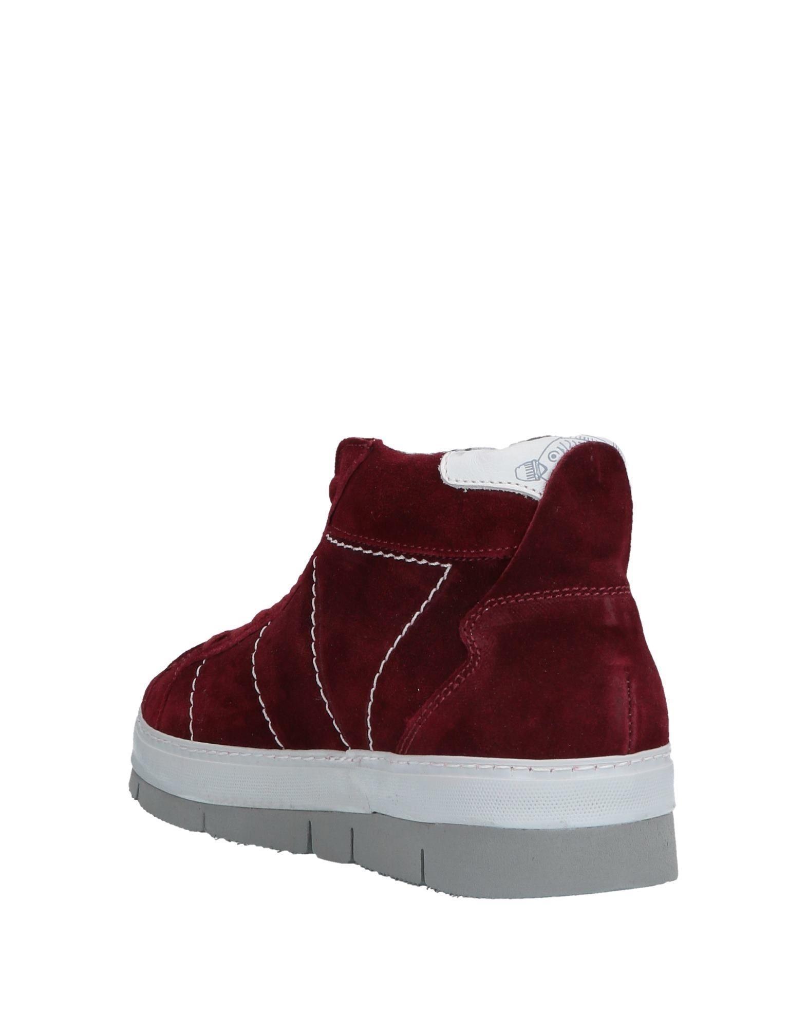 Sneakers abotinadas Soya Fish de Cuero de color Rojo para hombre