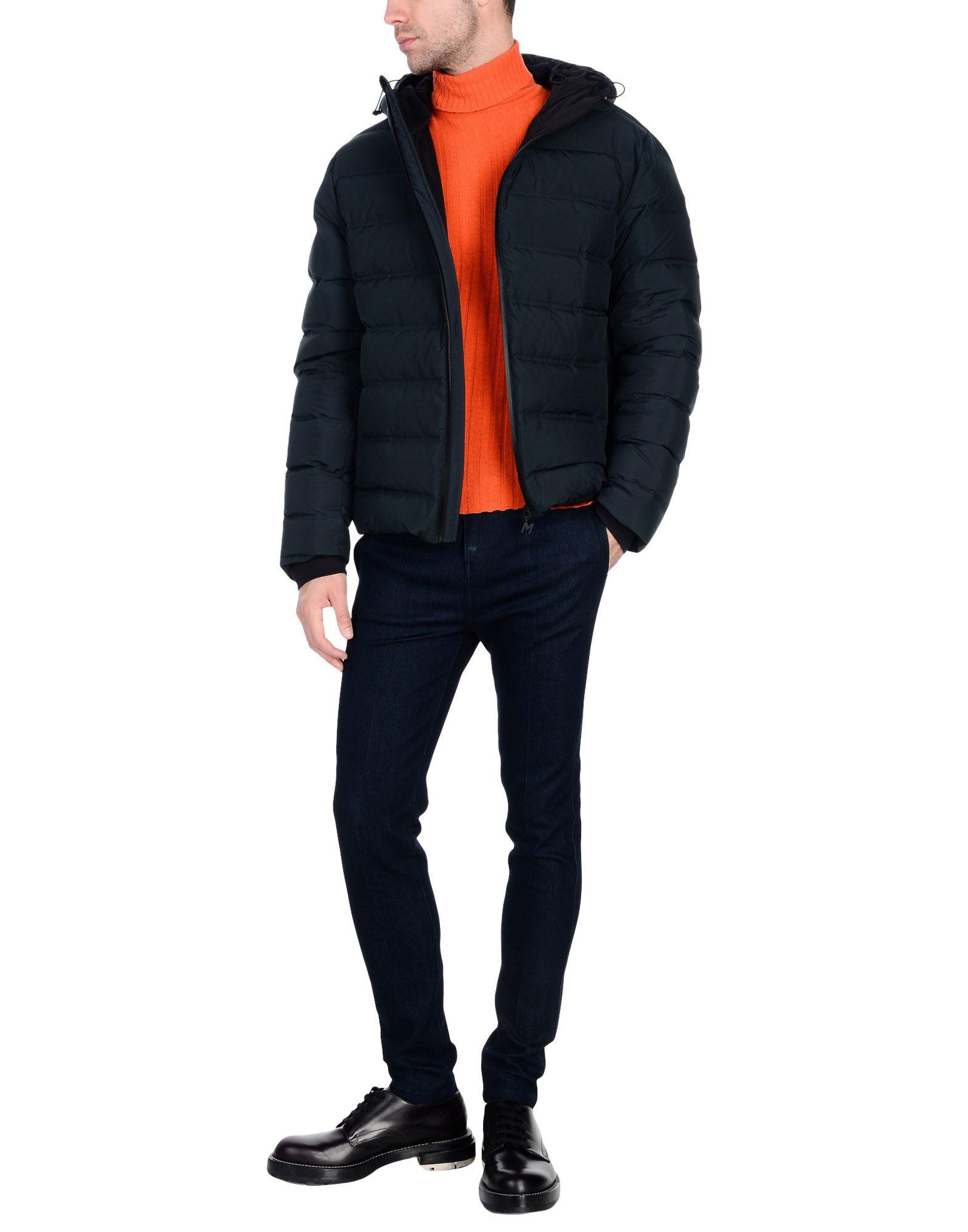 MSGM Synthetic Down Jacket in Slate Blue (Blue) for Men