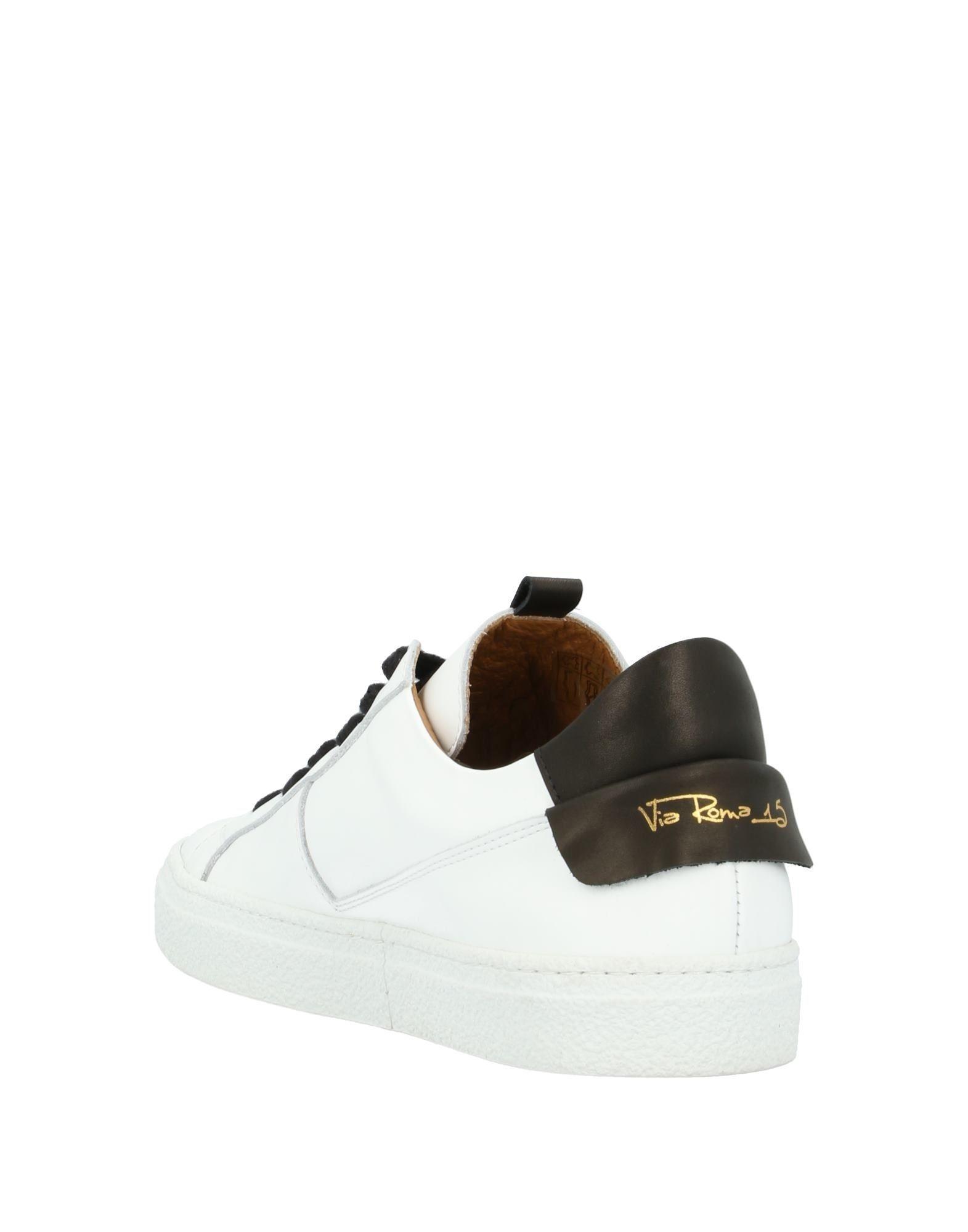 Sneakers & Deportivas Via Roma 15 de Cuero de color Blanco