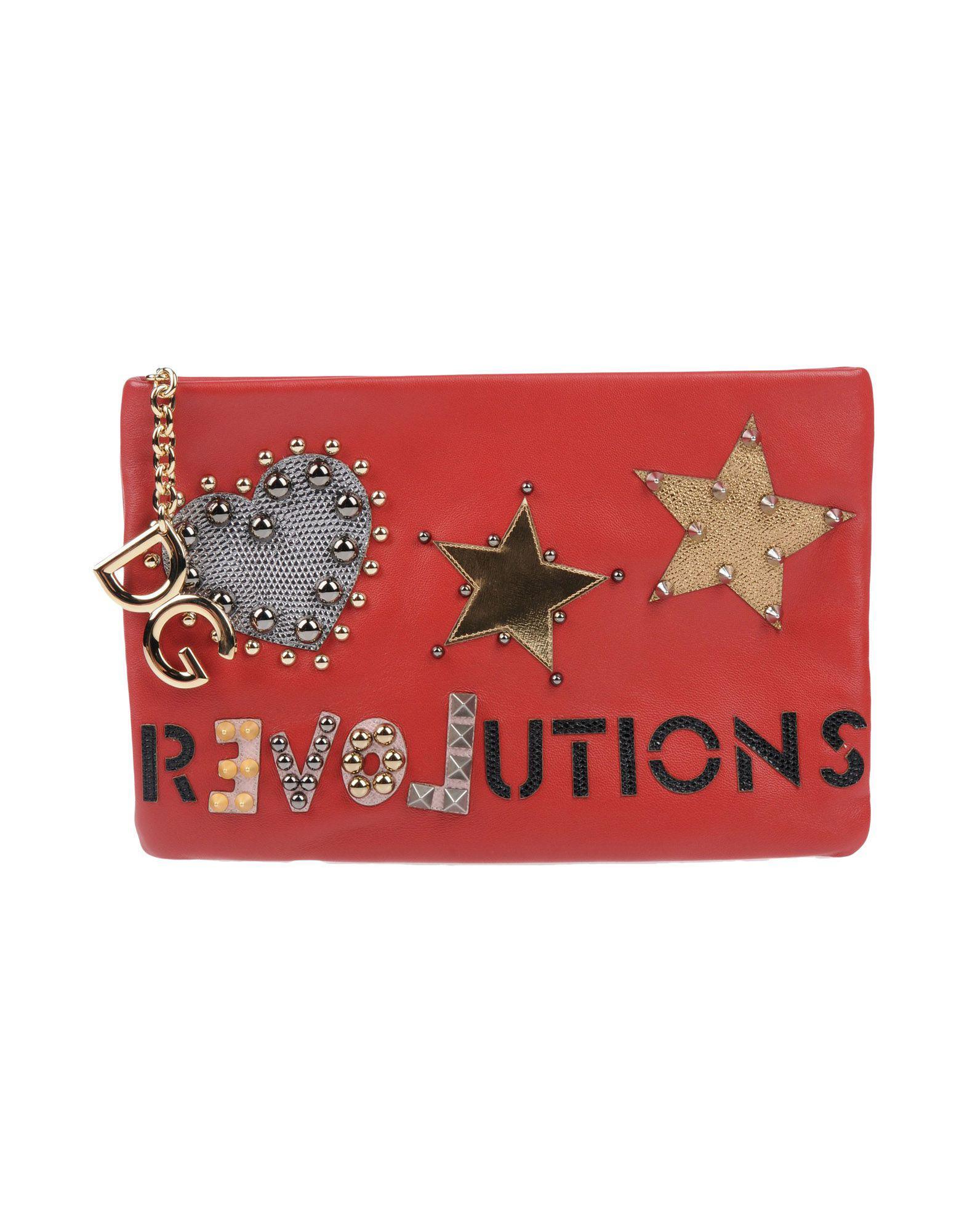 149b1ee96115 Lyst - Dolce   Gabbana Handbag in Red - Save 1%