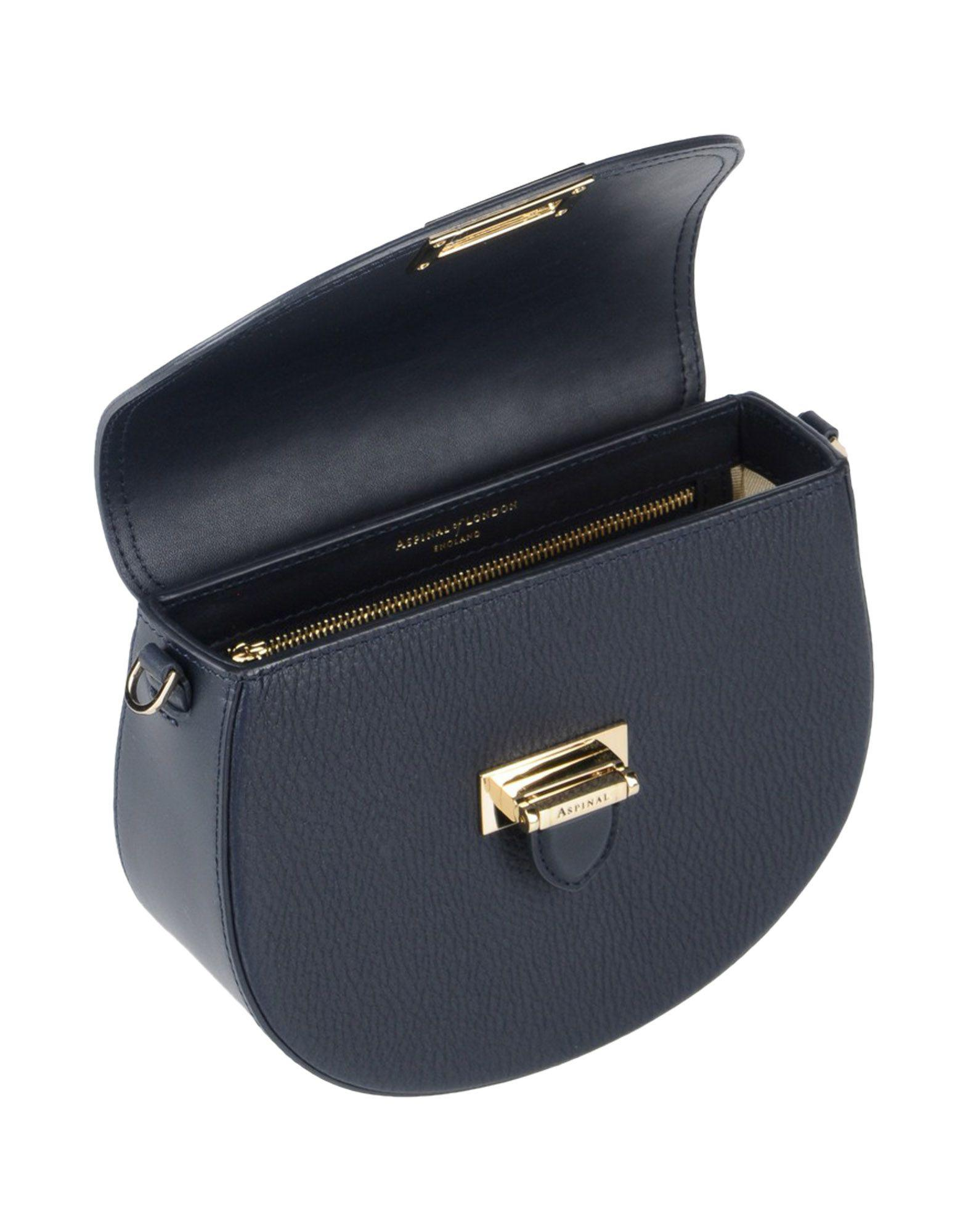 Aspinal of London Leather Cross-body Bags in Dark Blue (Blue)