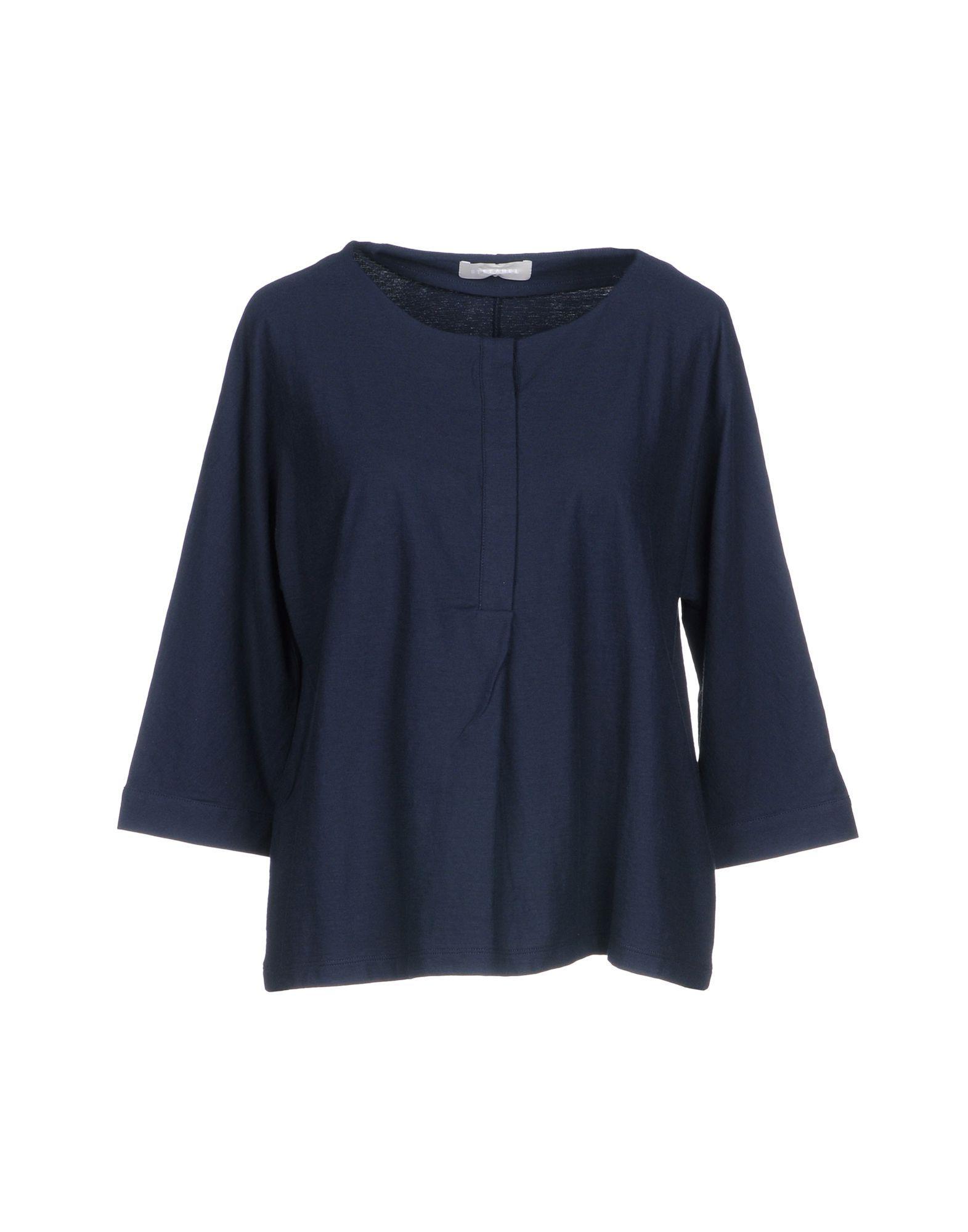 Stefanel T-shirt in Blue - Lyst fa9677a5f8b5