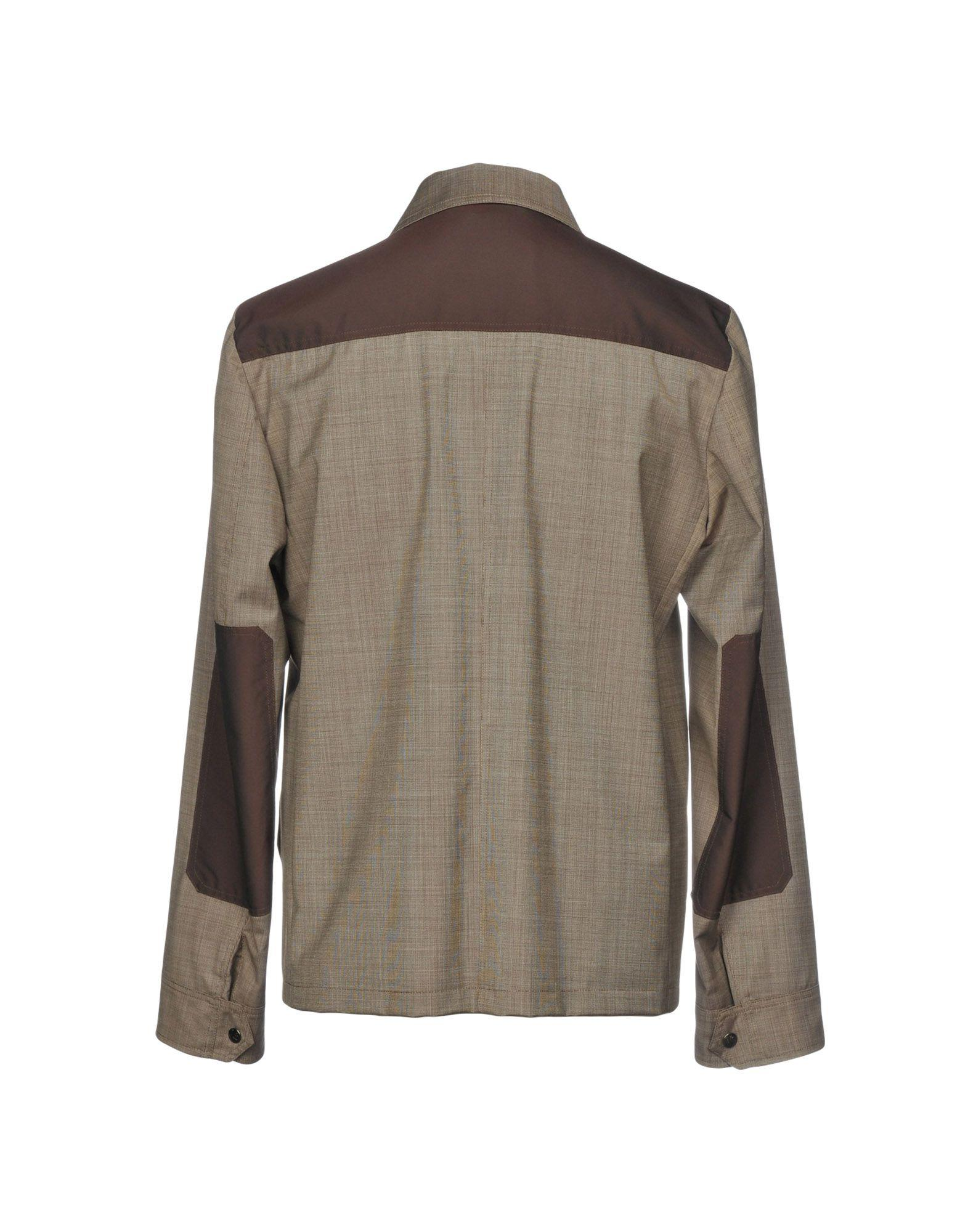 Isaia Wool Jacket in Grey (Grey) for Men