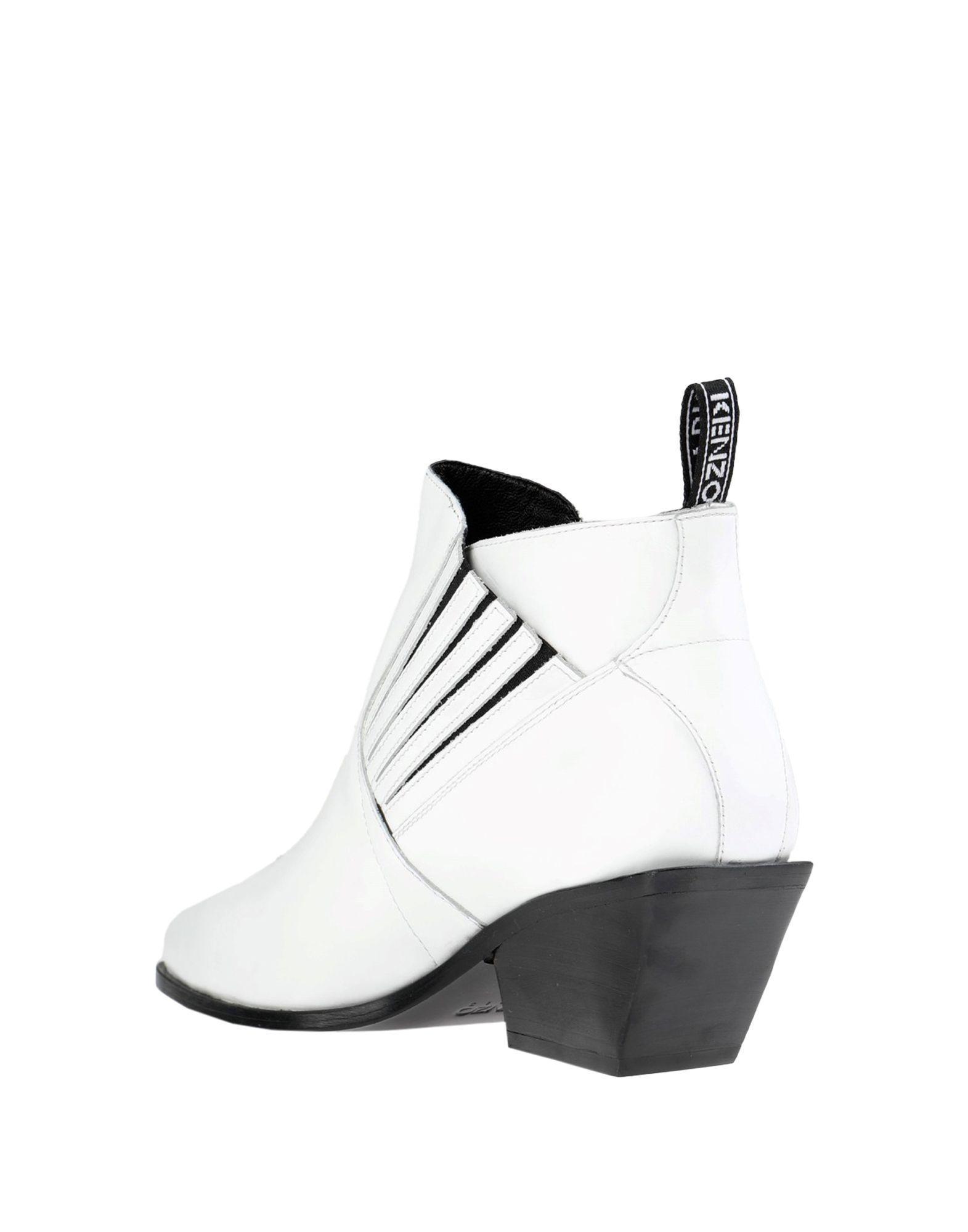 Botines de caña alta KENZO de Cuero de color Blanco