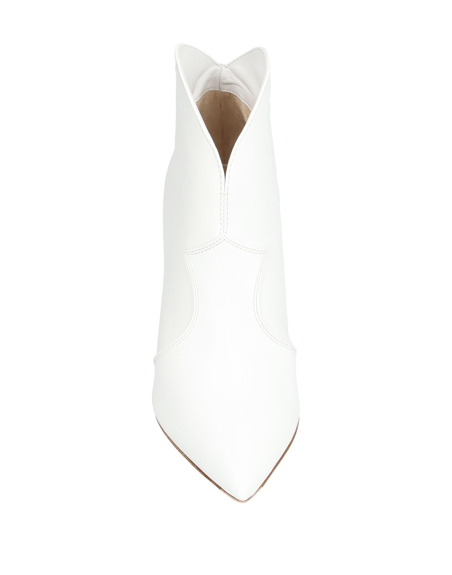 Botines de caña alta Gianvito Rossi de Cuero de color Blanco