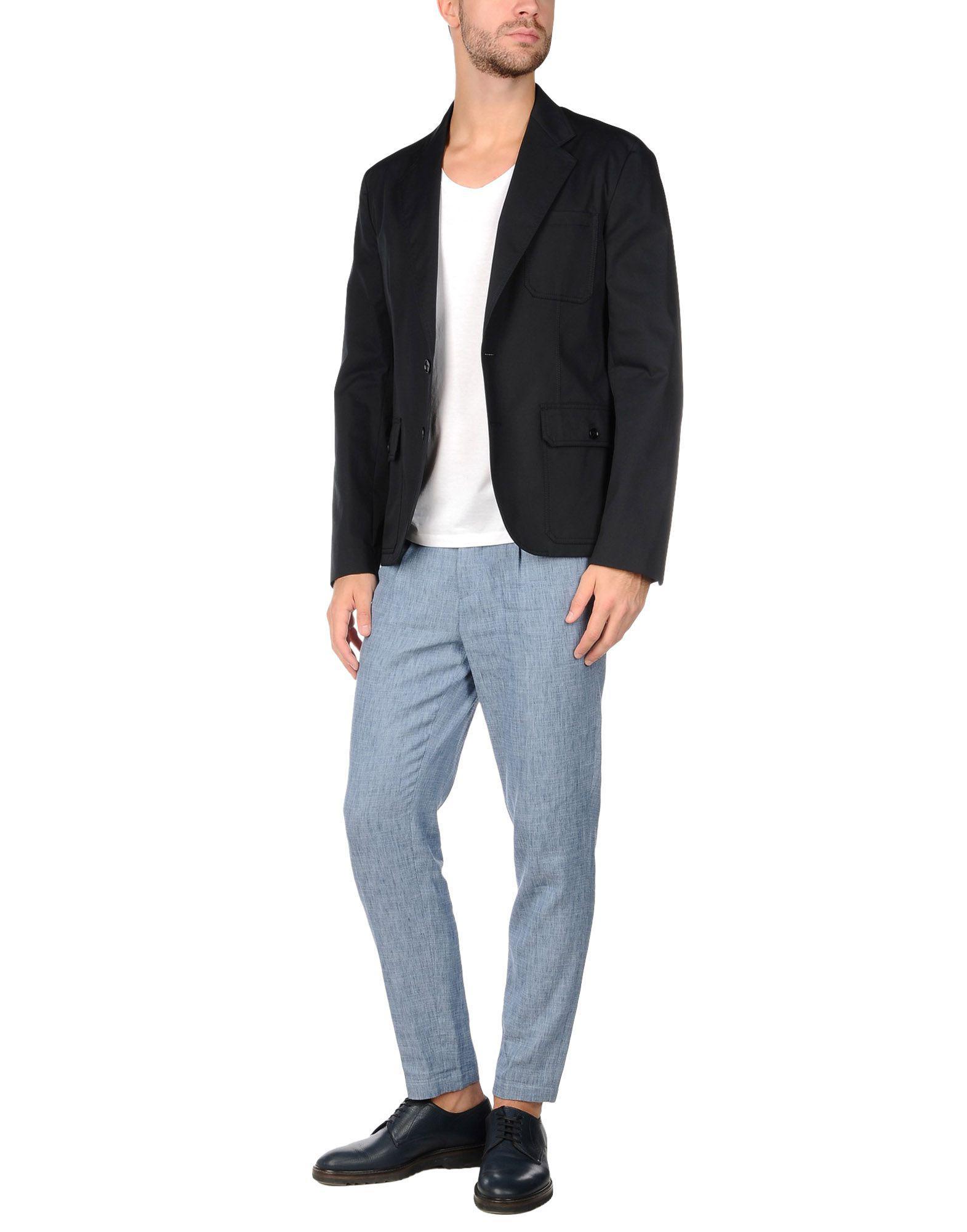 Maison Margiela Cotton Suit Jacket in Dark Blue (Blue) for Men