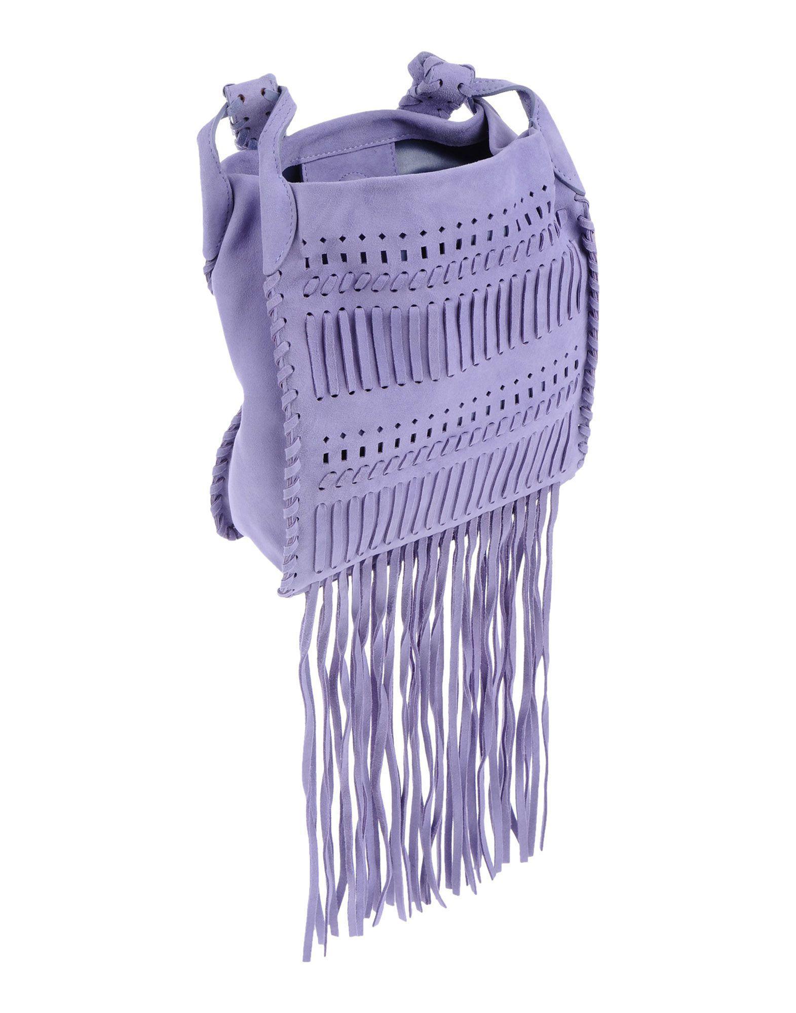 Alberta Ferretti Leather Cross-body Bag in Lilac (Purple)