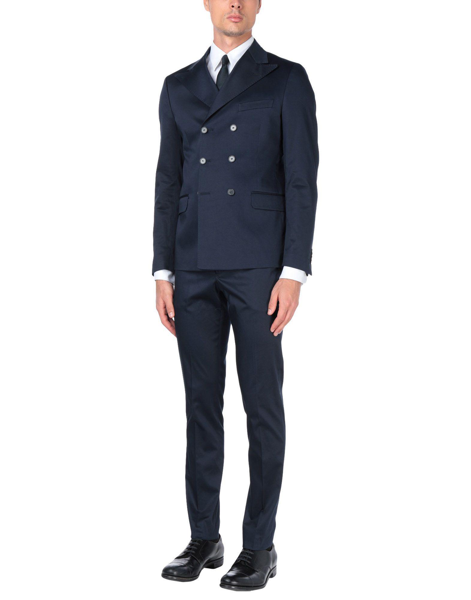 Takeshy Kurosawa Cotton Suit in Dark Blue (Blue) for Men ...