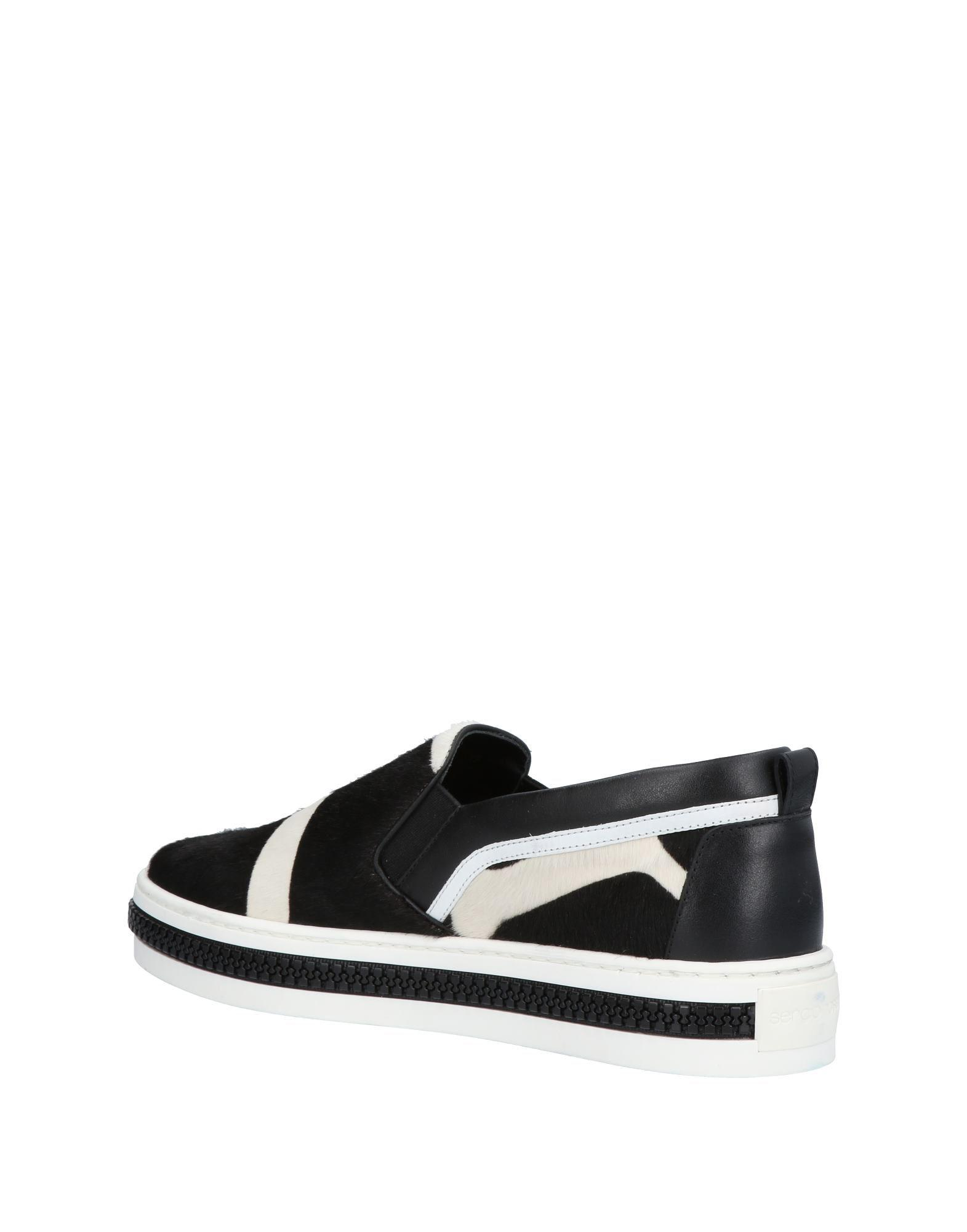 Sergio Rossi Leather Low-tops & Sneakers in Ivory (White)