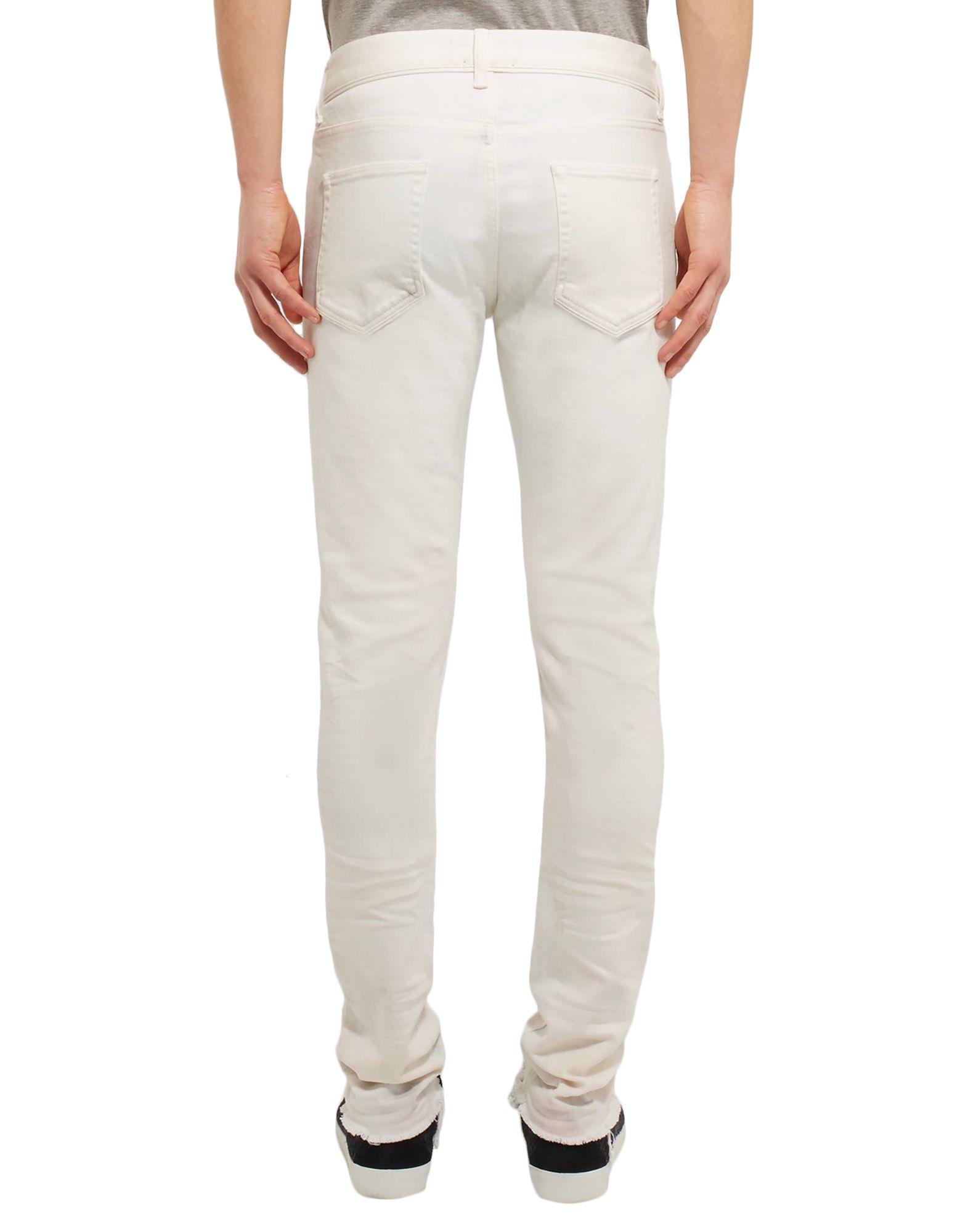 John Elliott Denim Pants in Ivory (White) for Men