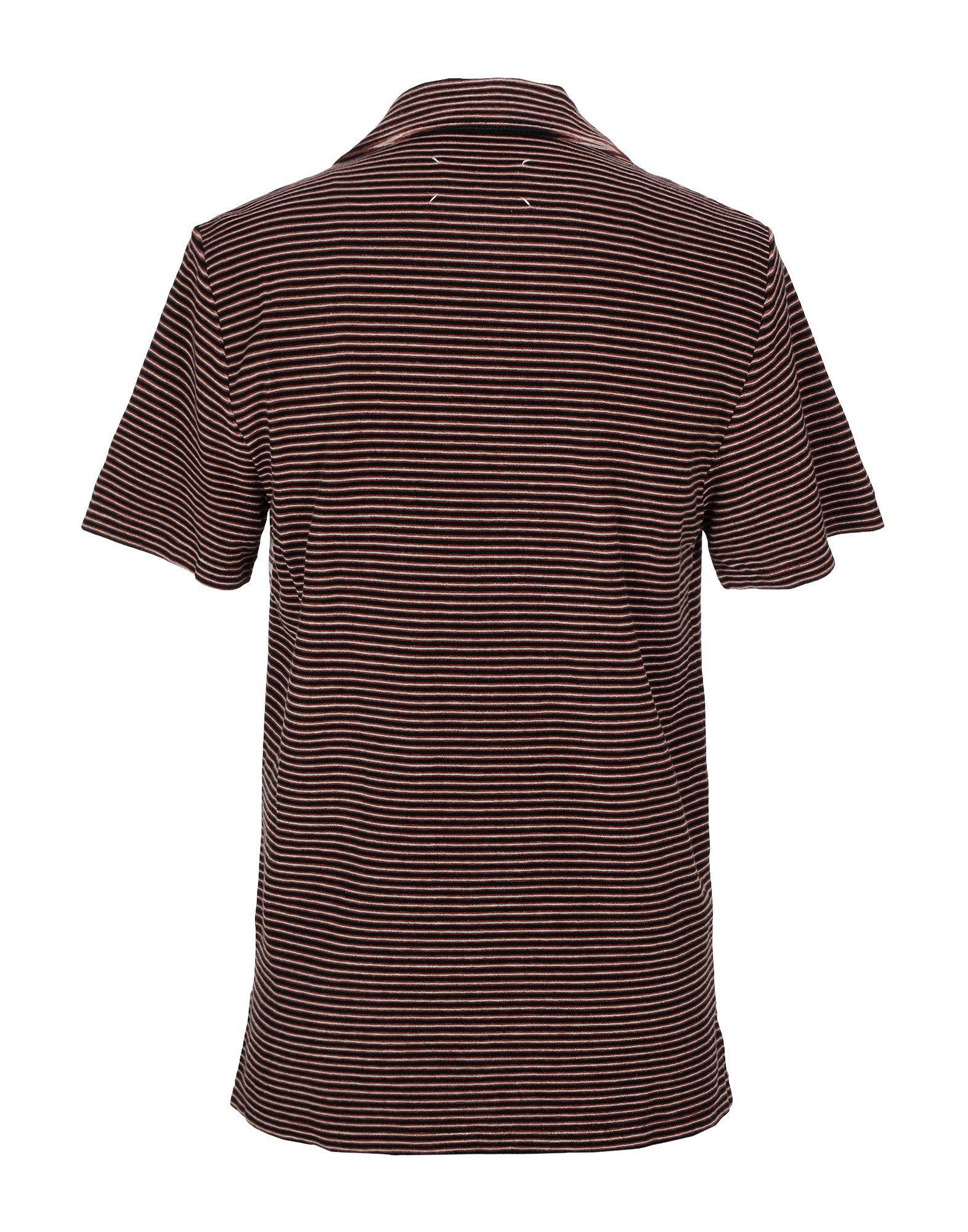 Maison Margiela Cotton Polo Shirt in Brown for Men