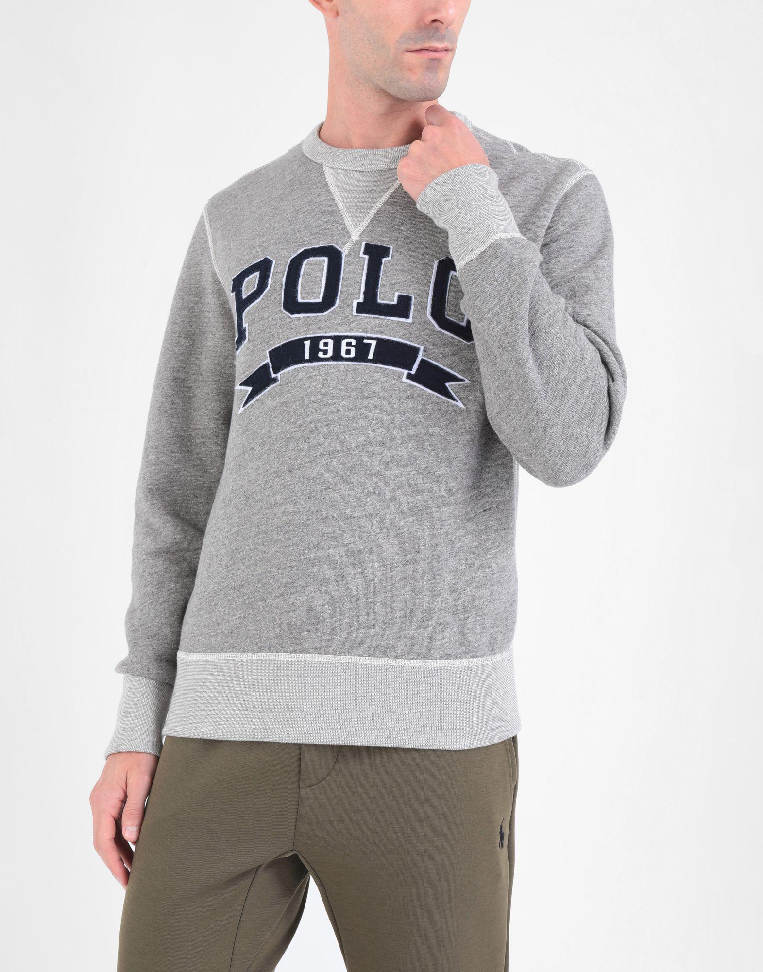 ad8b2d412190 Polo Ralph Lauren Cotton-blend-fleece Sweatshirt in Gray for Men - Save 70%  - Lyst