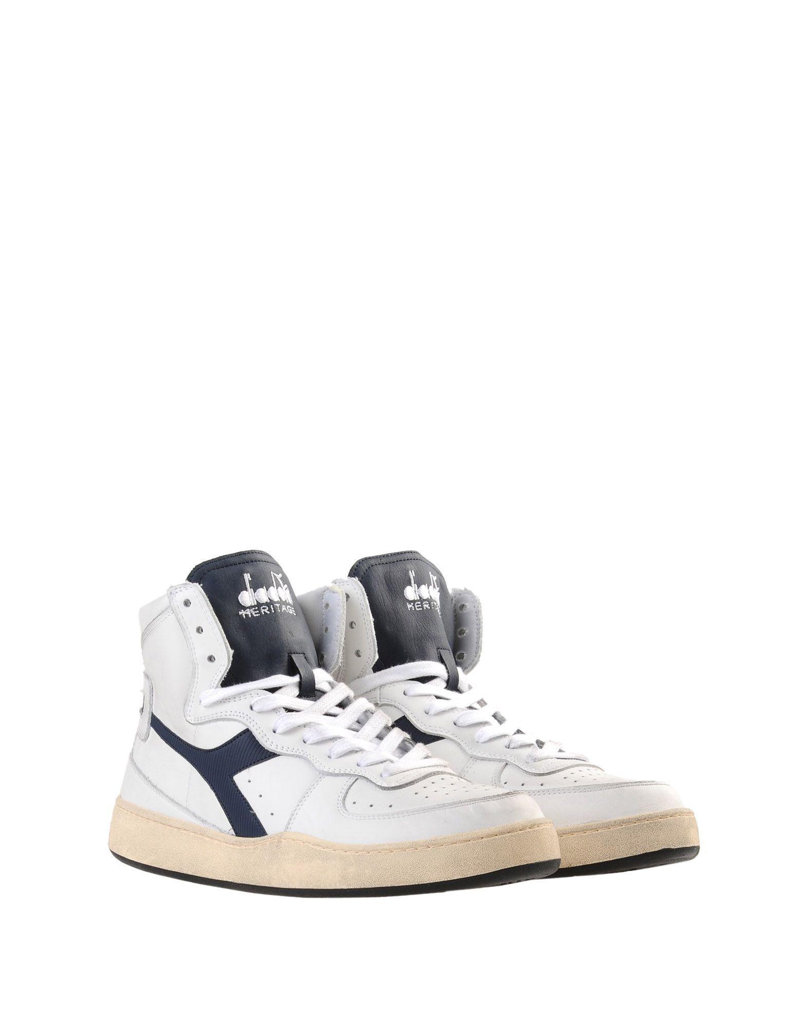 Sneakers abotinadas Diadora de Cuero de color Blanco para hombre