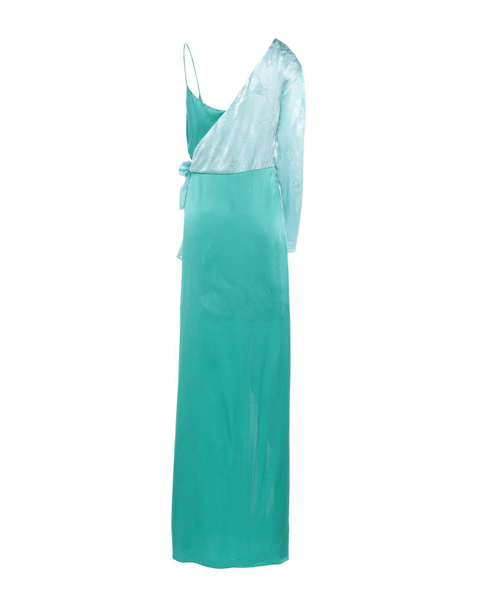Robe courte Satin Pinko en coloris Vert
