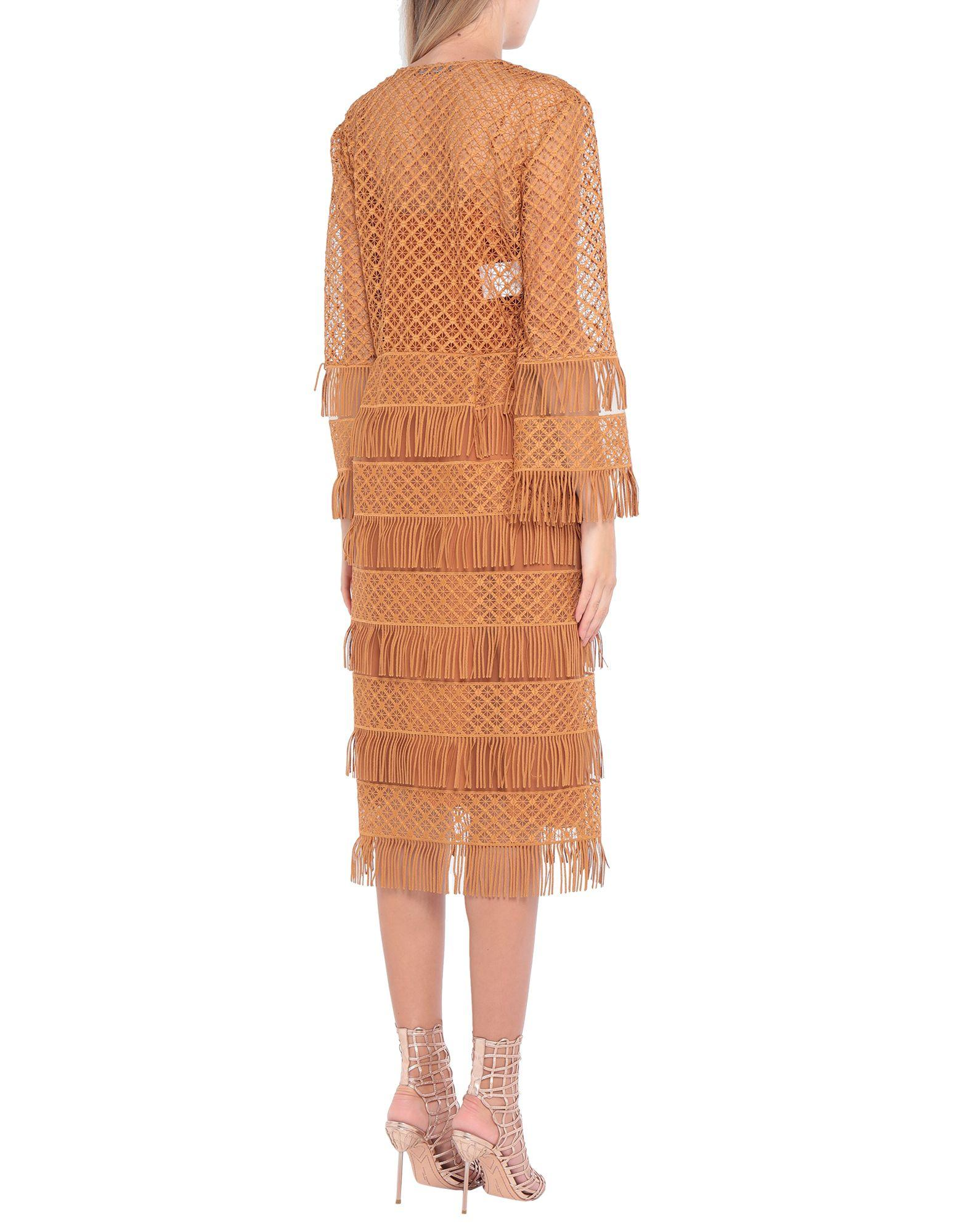 Vestido por la rodilla Alberta Ferretti de Tul de color Marrón