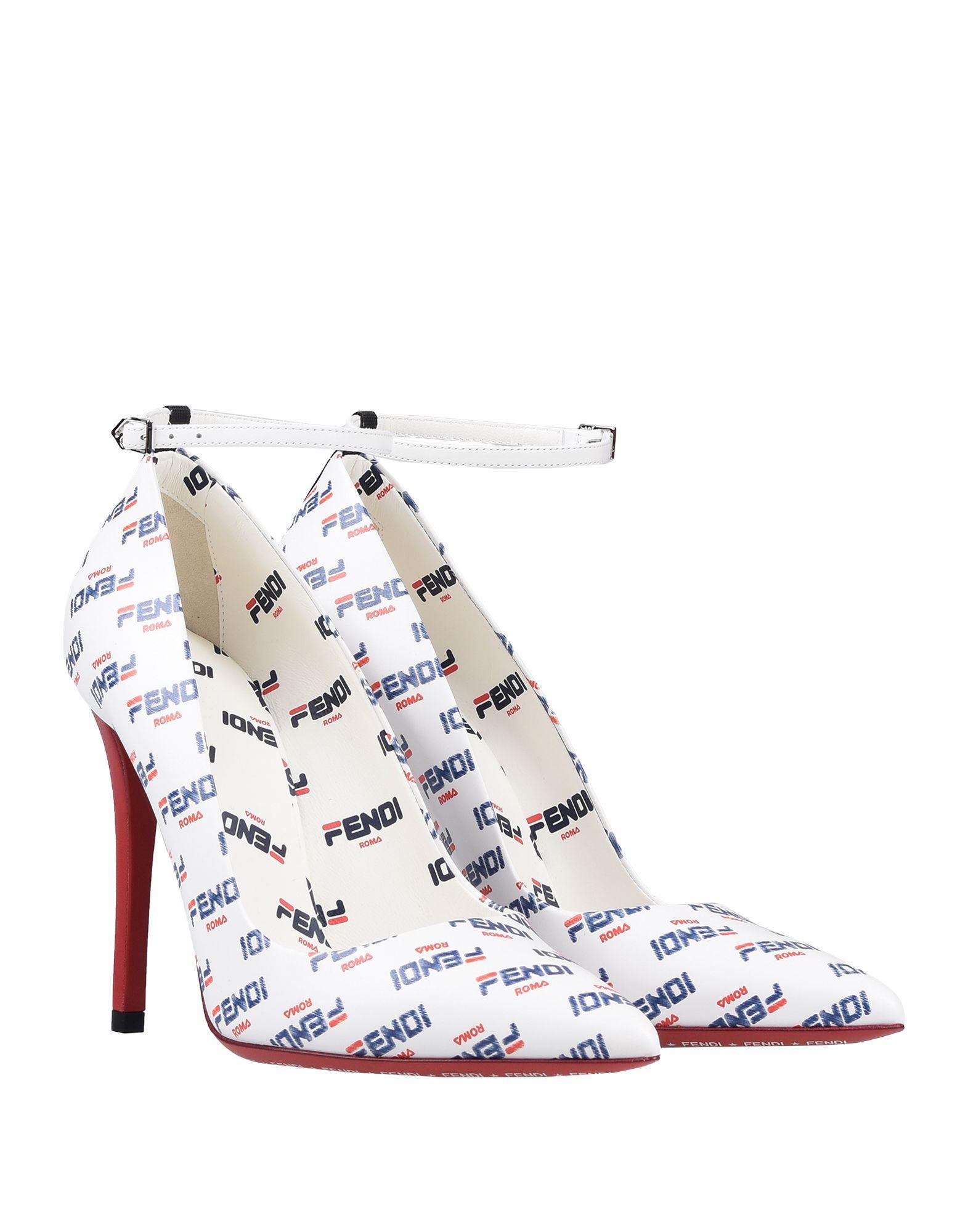Zapatos de salón Fendi de color Blanco