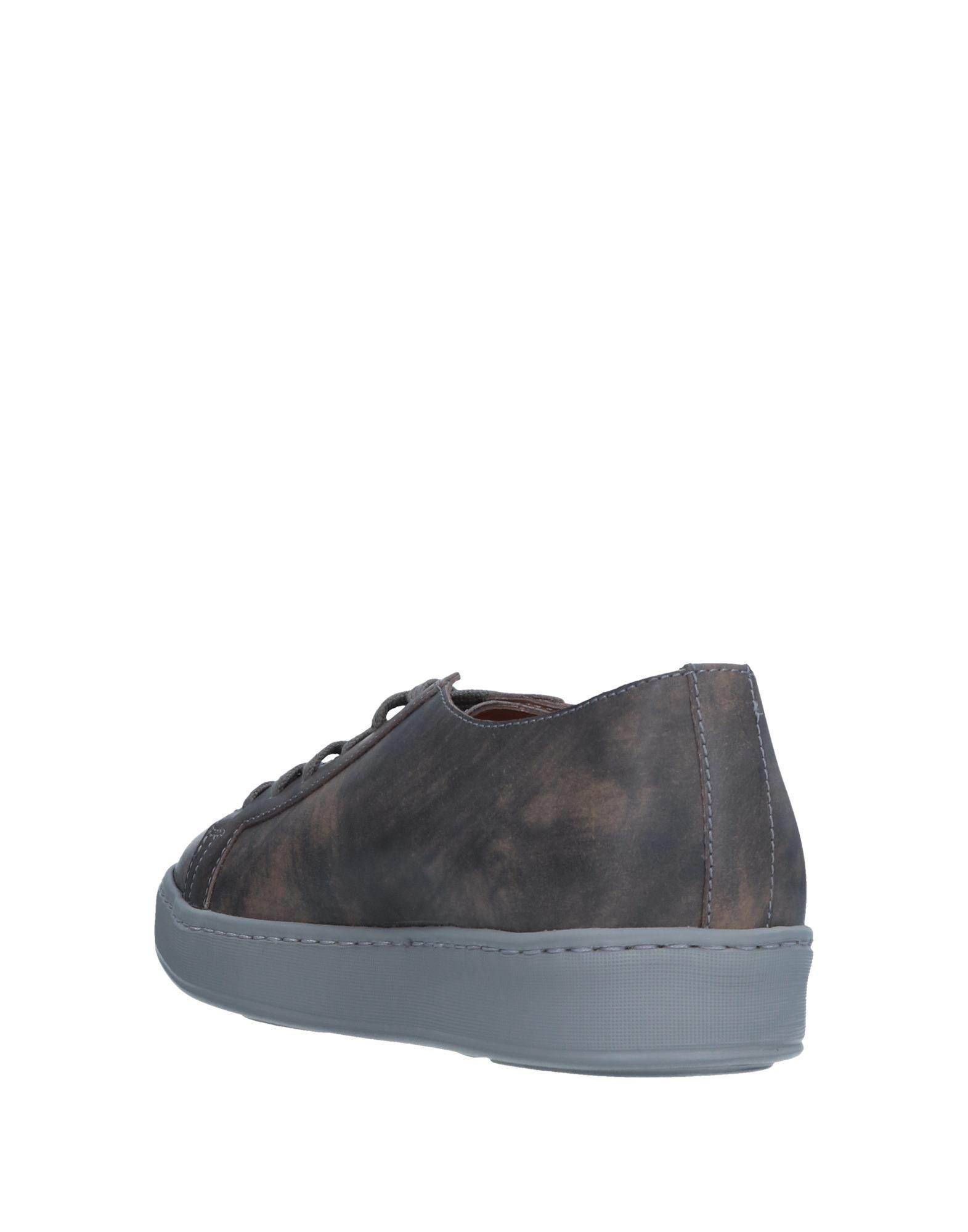Santoni Leather Low-tops & Sneakers in Khaki (Grey)
