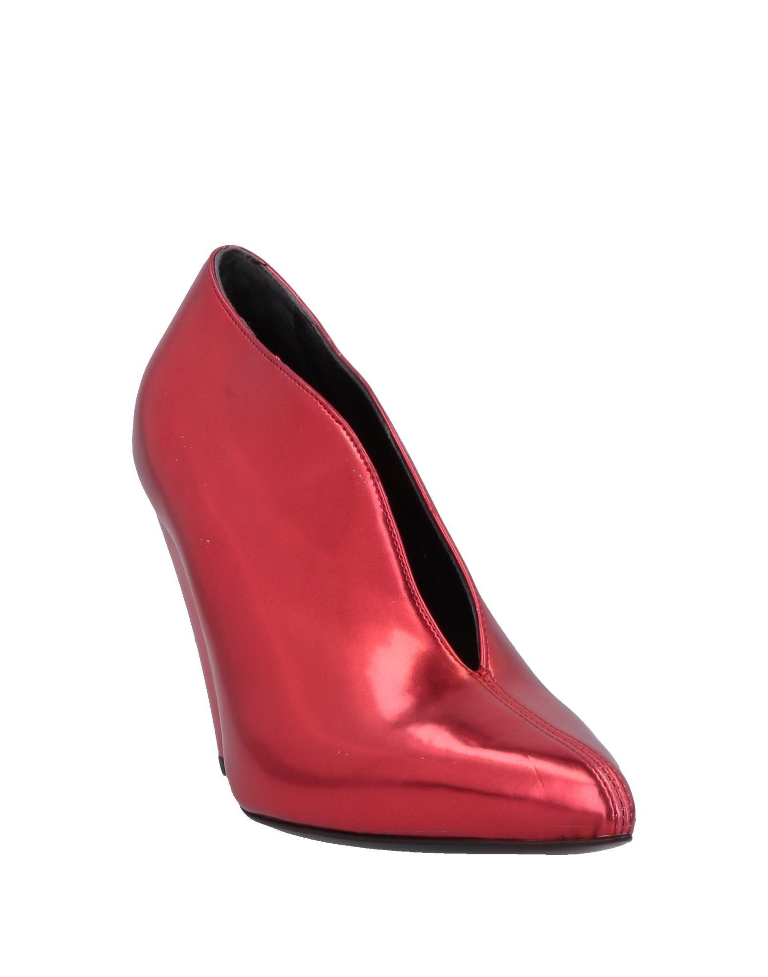 Botines Space Style Concept de Cuero de color Rojo