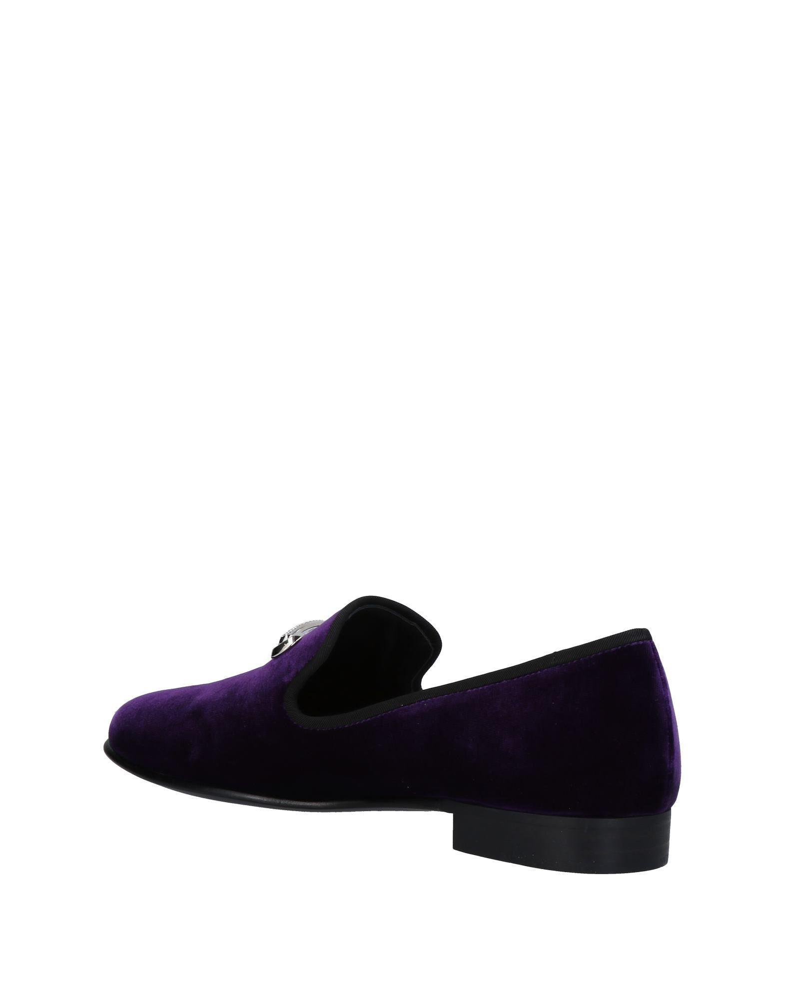 Giuseppe Zanotti Velvet Loafer in Purple for Men