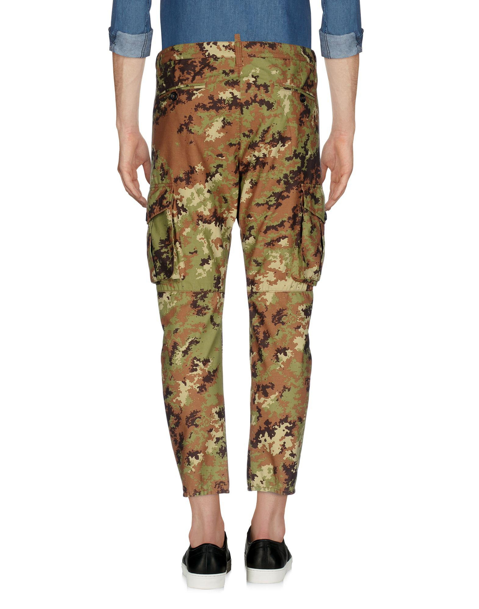 DSquared² Synthetic Casual Pants in Military Green (Green) for Men