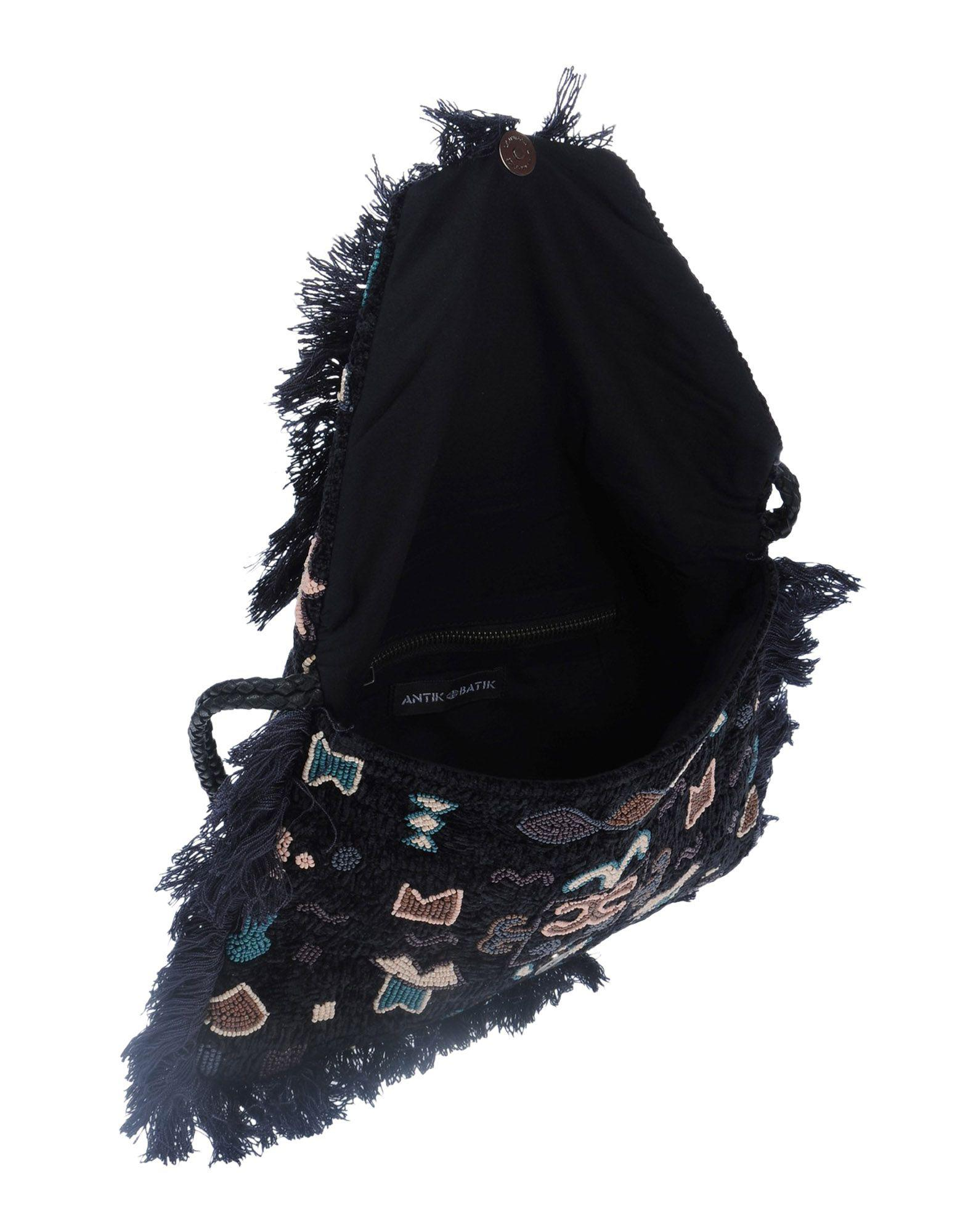 Antik Batik Velvet Cross-body Bag in Black
