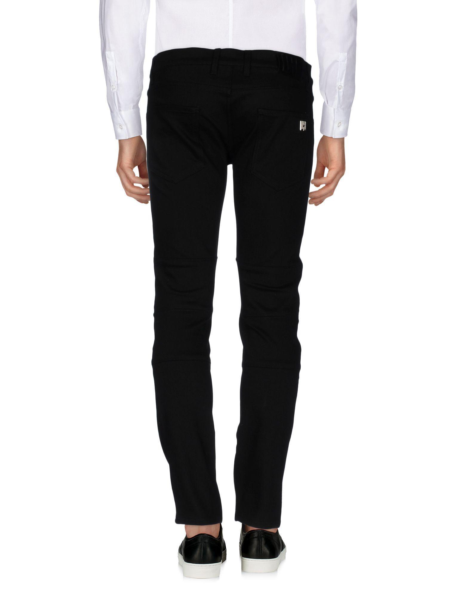 Les Hommes Cotton Casual Trouser in Black for Men