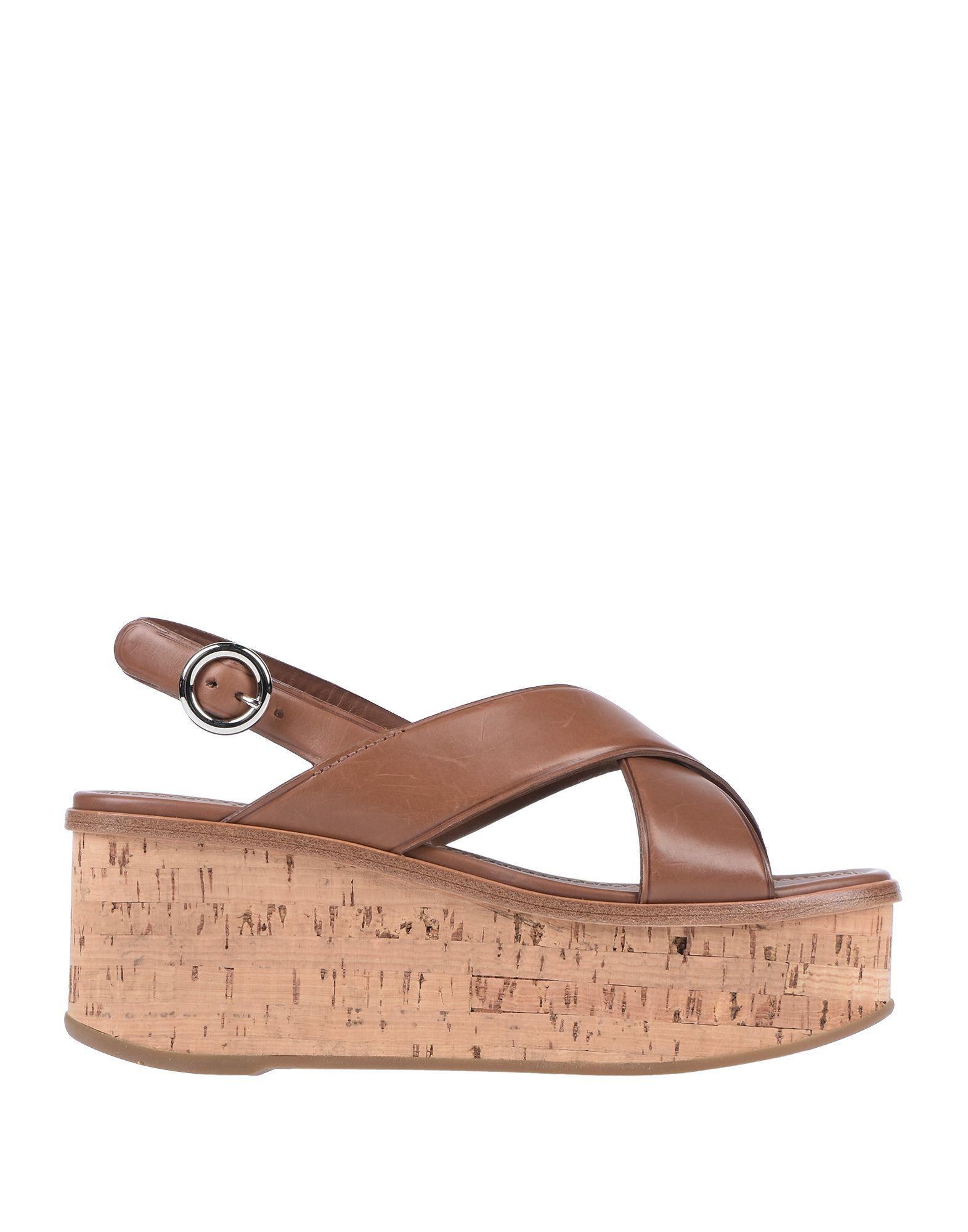 3f16ea5ce668 Lyst - Prada Sandals in Natural