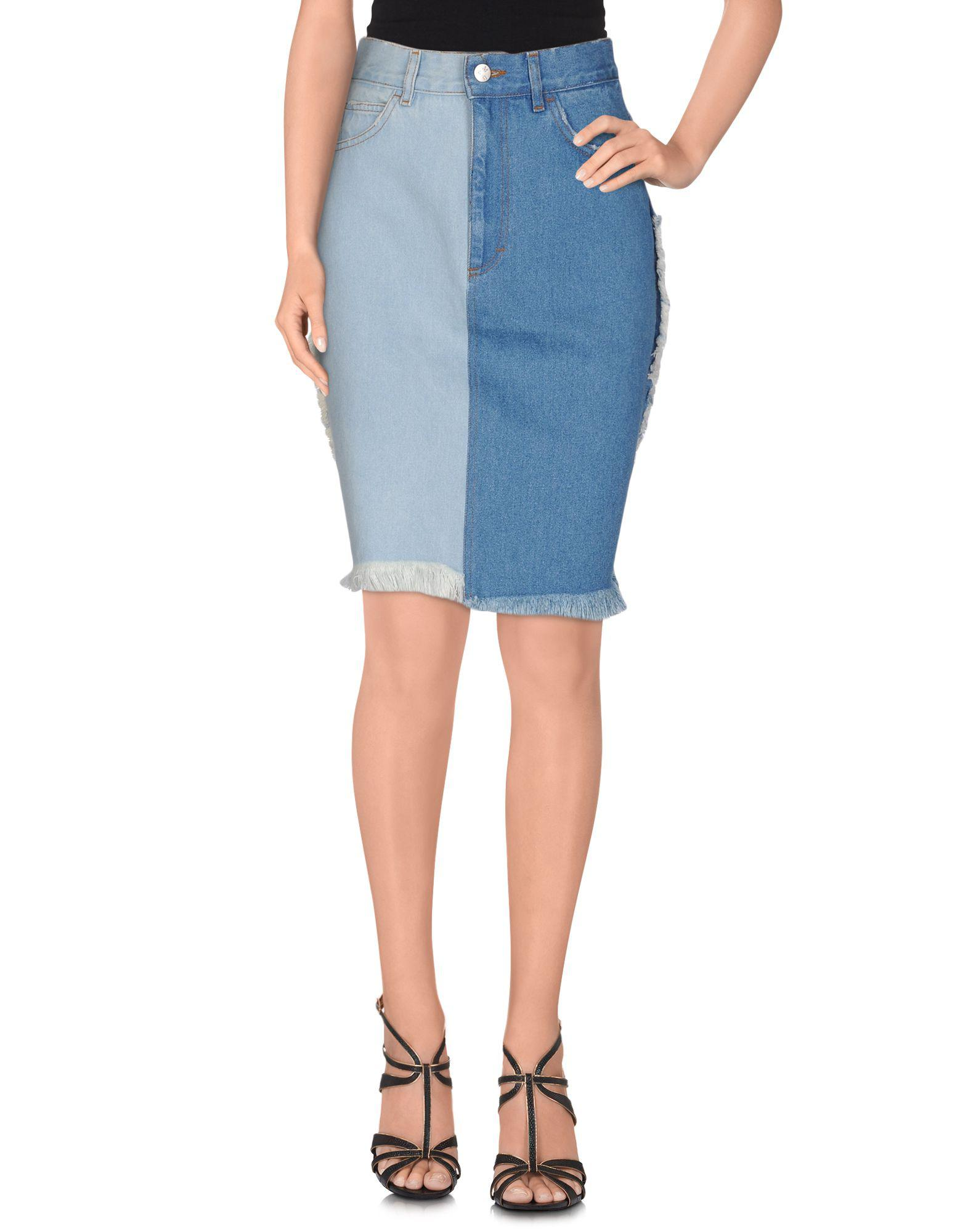 3d73fe2664 M I S B H V Denim Skirt in Blue - Lyst