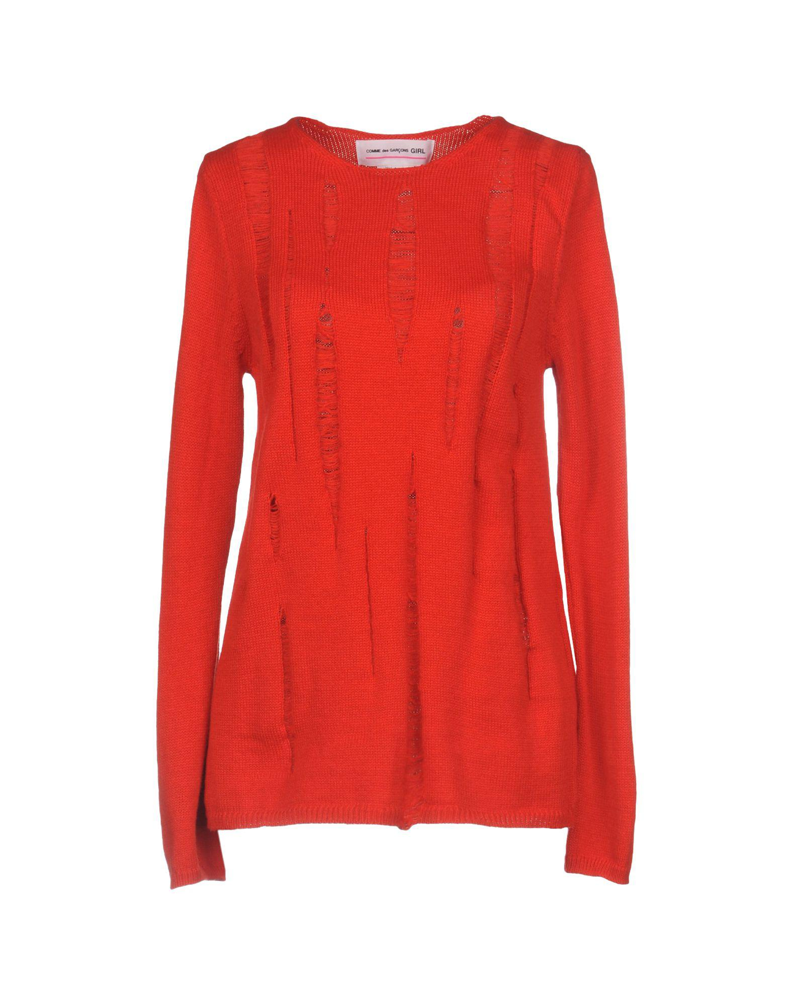 Lyst Comme Des Garçons Sweater In Red