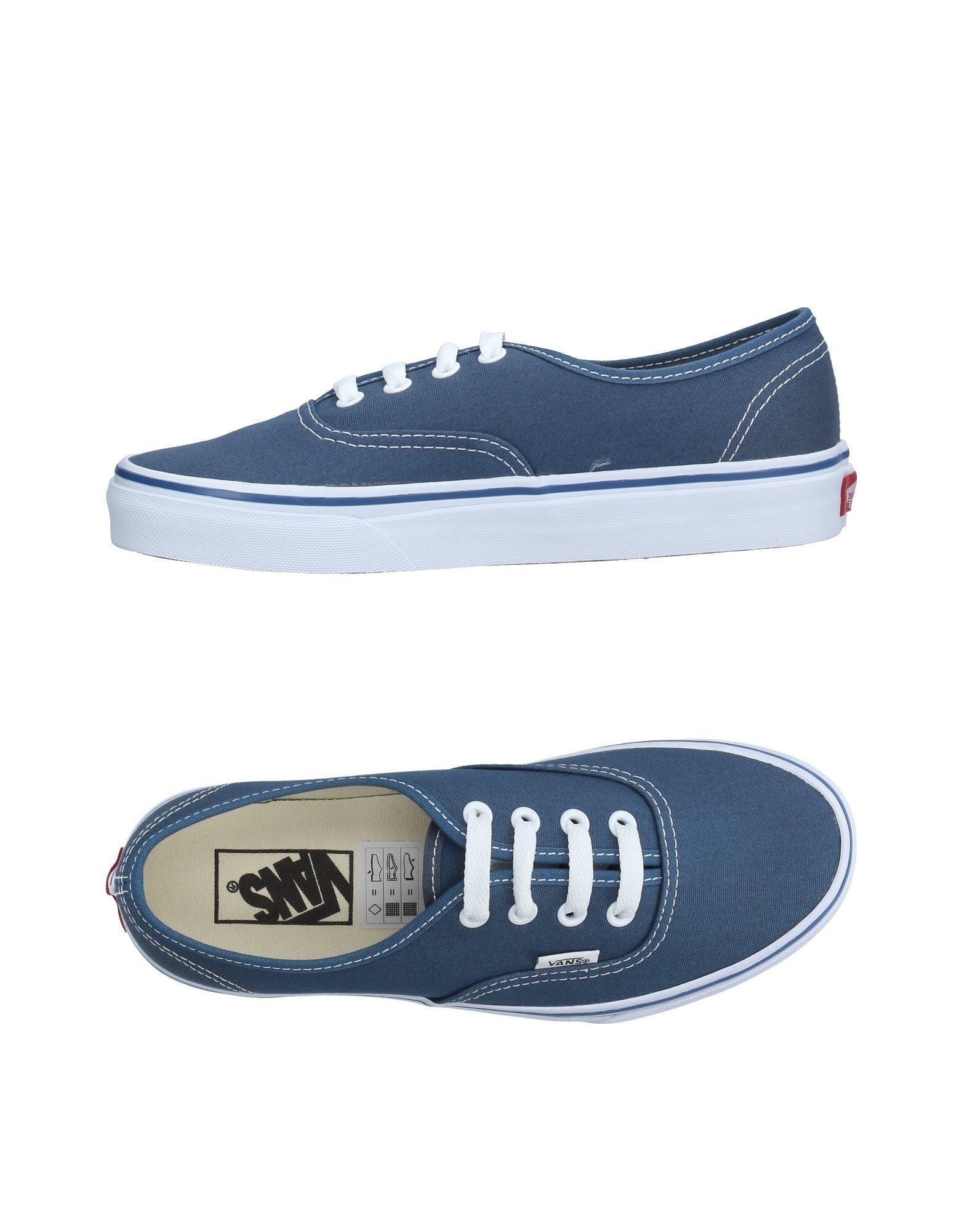 lyst vans low tops sneakers in blue. Black Bedroom Furniture Sets. Home Design Ideas