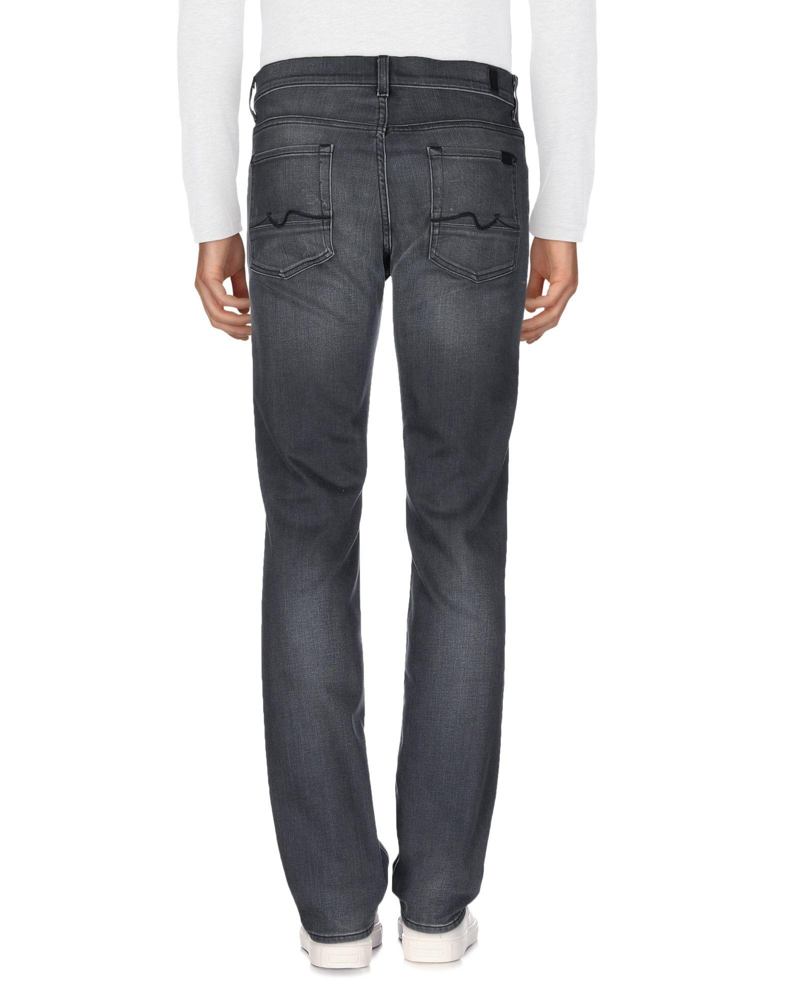 7 For All Mankind Denim Trousers in Lead (Blue) for Men