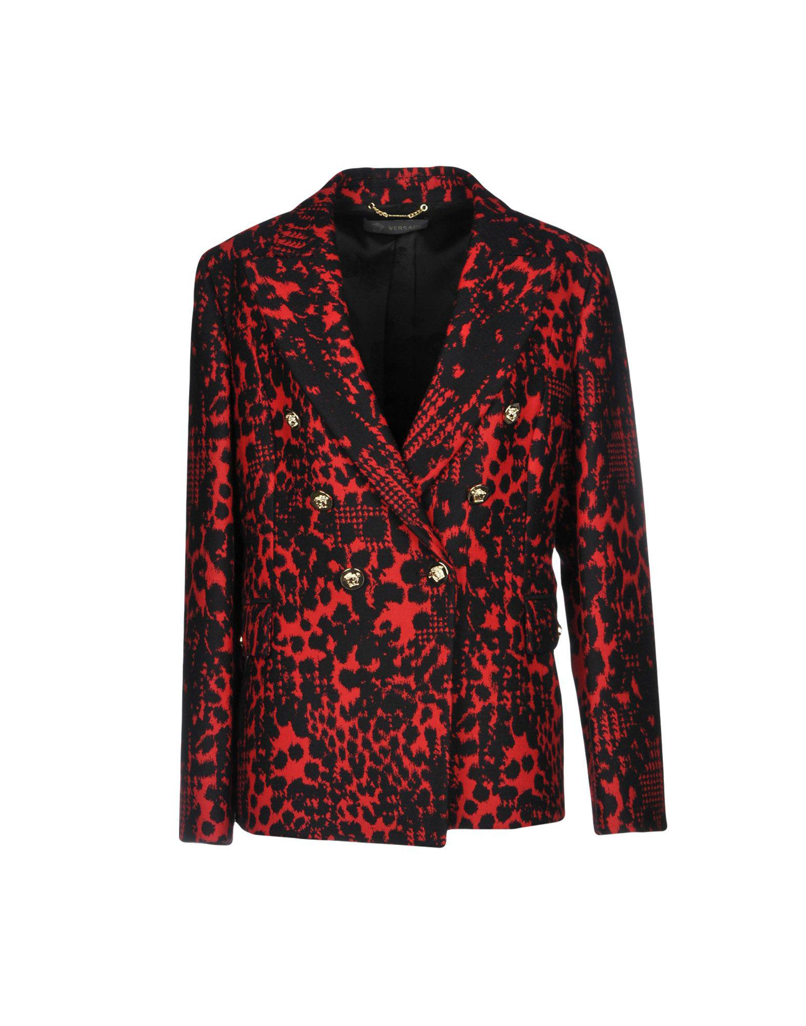Veste Rouge Lyst En Coloris Versace HaawCqnB e0853a4d7a0