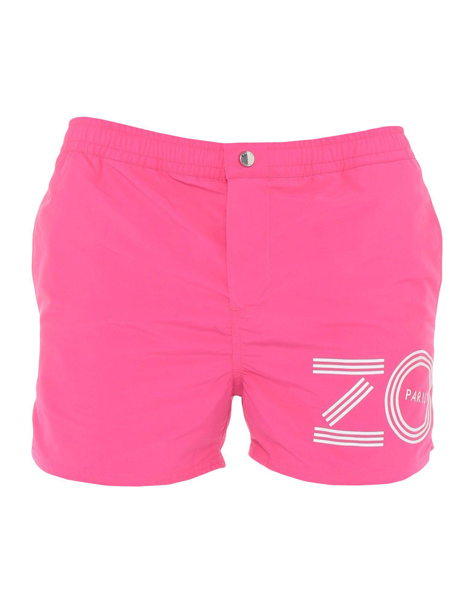 f85e0b1feb Lyst - KENZO Swim Trunks in Pink for Men