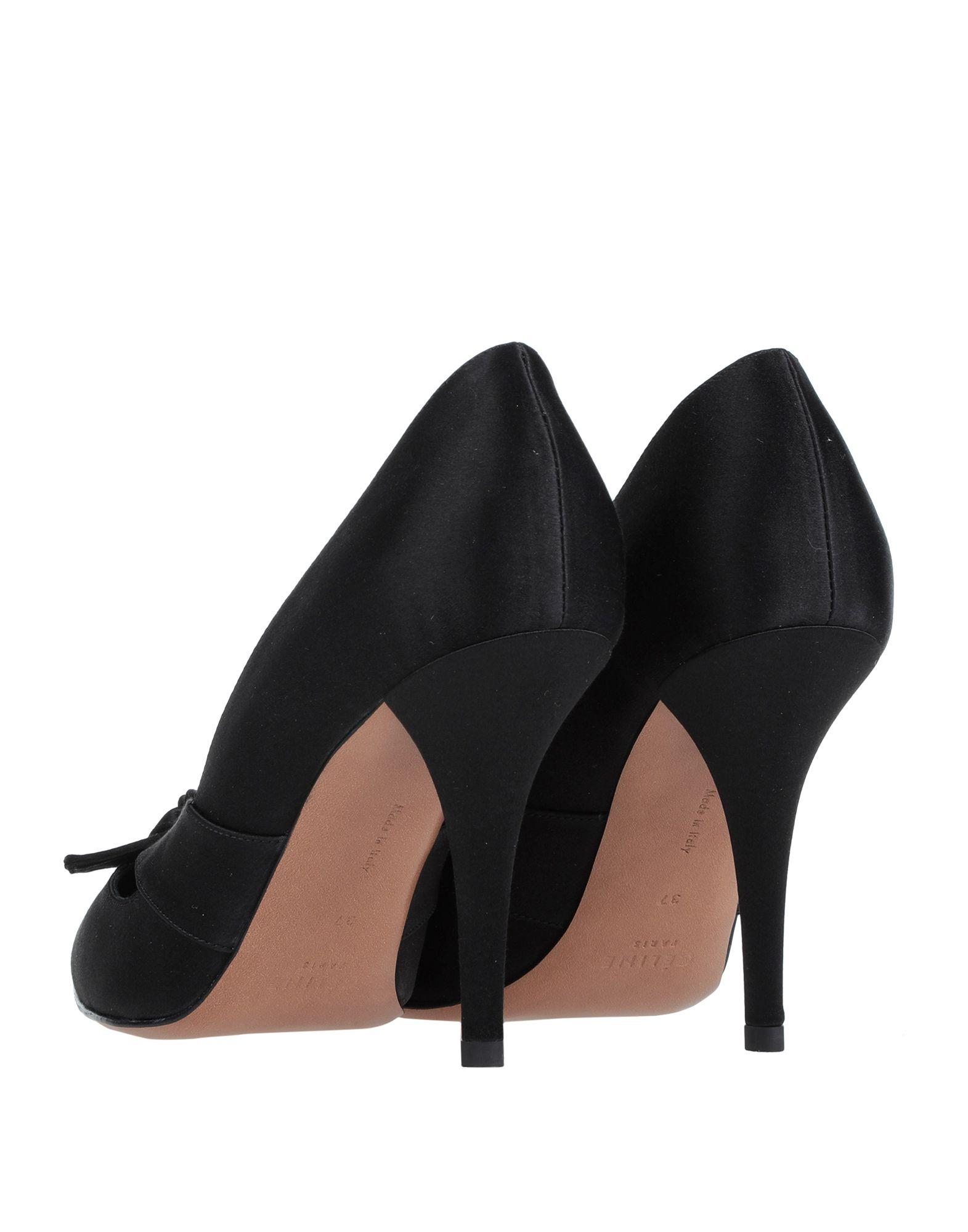 Zapatos de salón Celine de Raso de color Negro