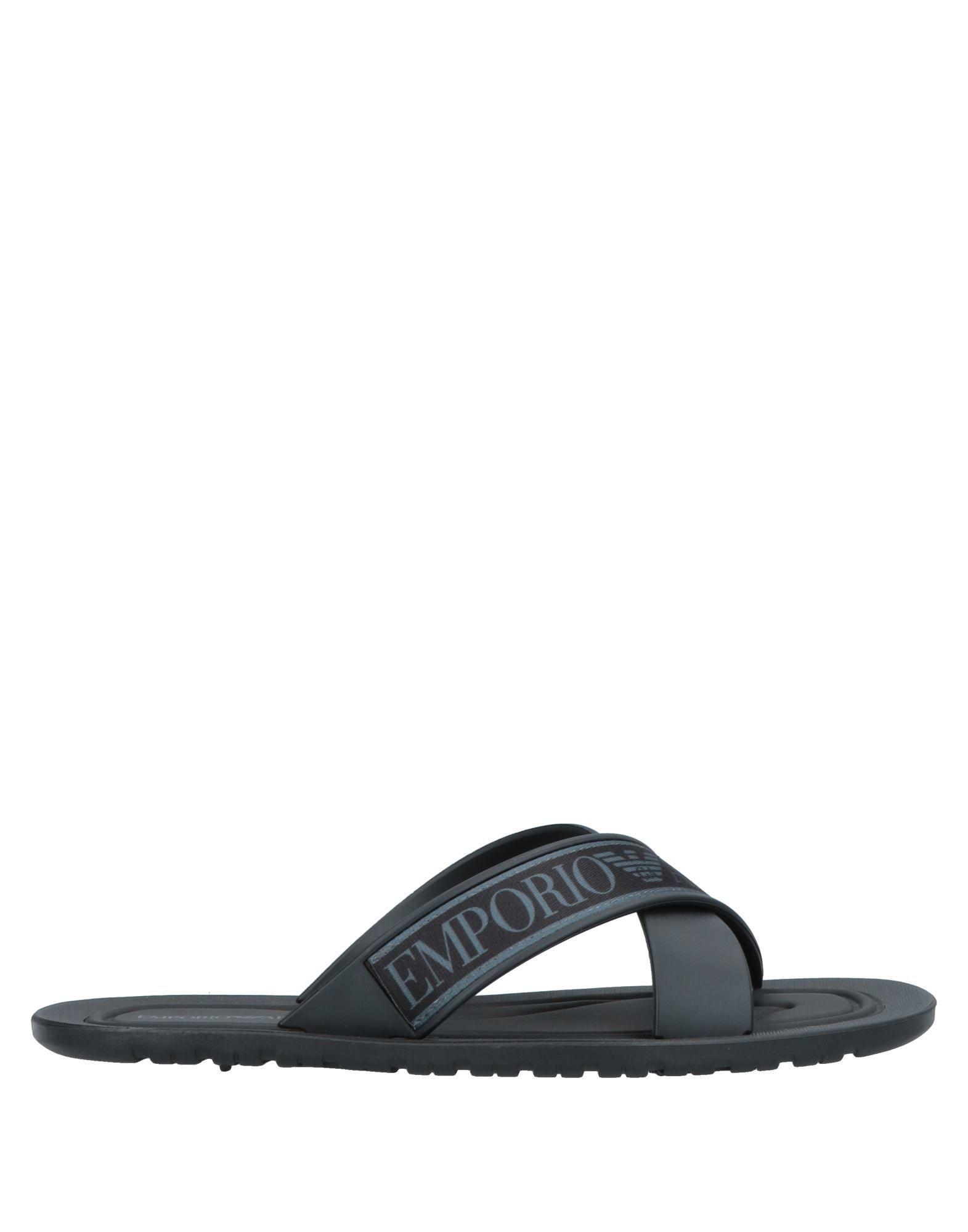 8b5eb5771 Lyst - Emporio Armani Sandals in Black for Men