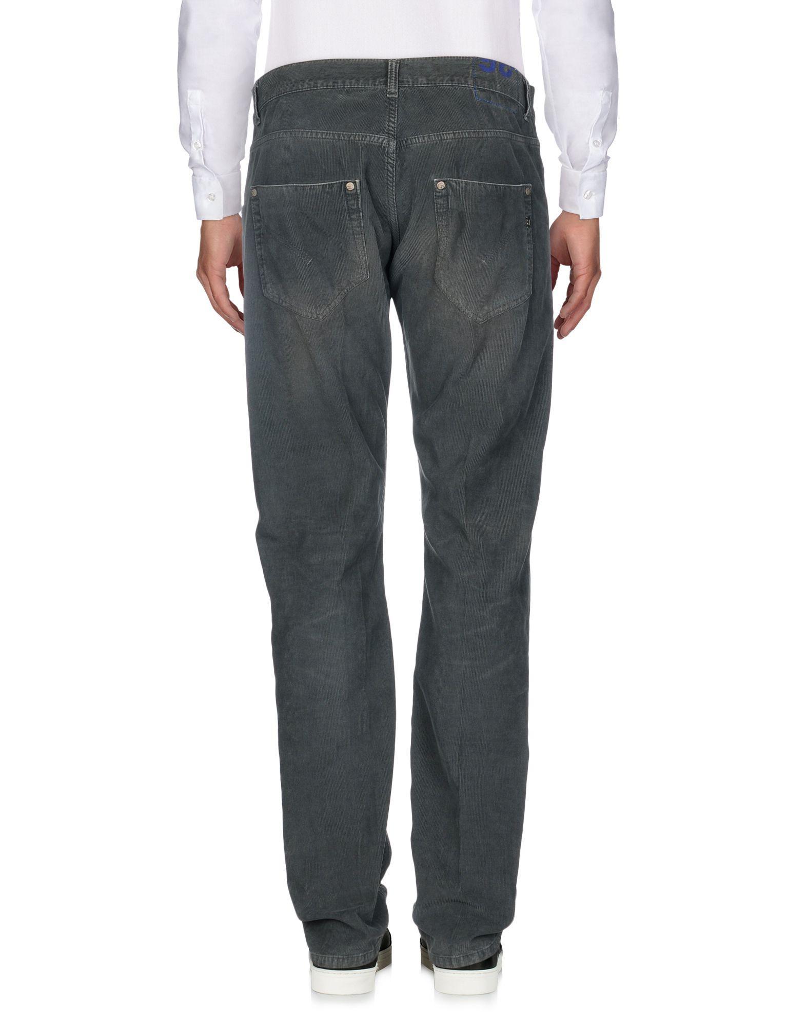 Dondup Velvet Casual Trouser in Lead (Grey) for Men