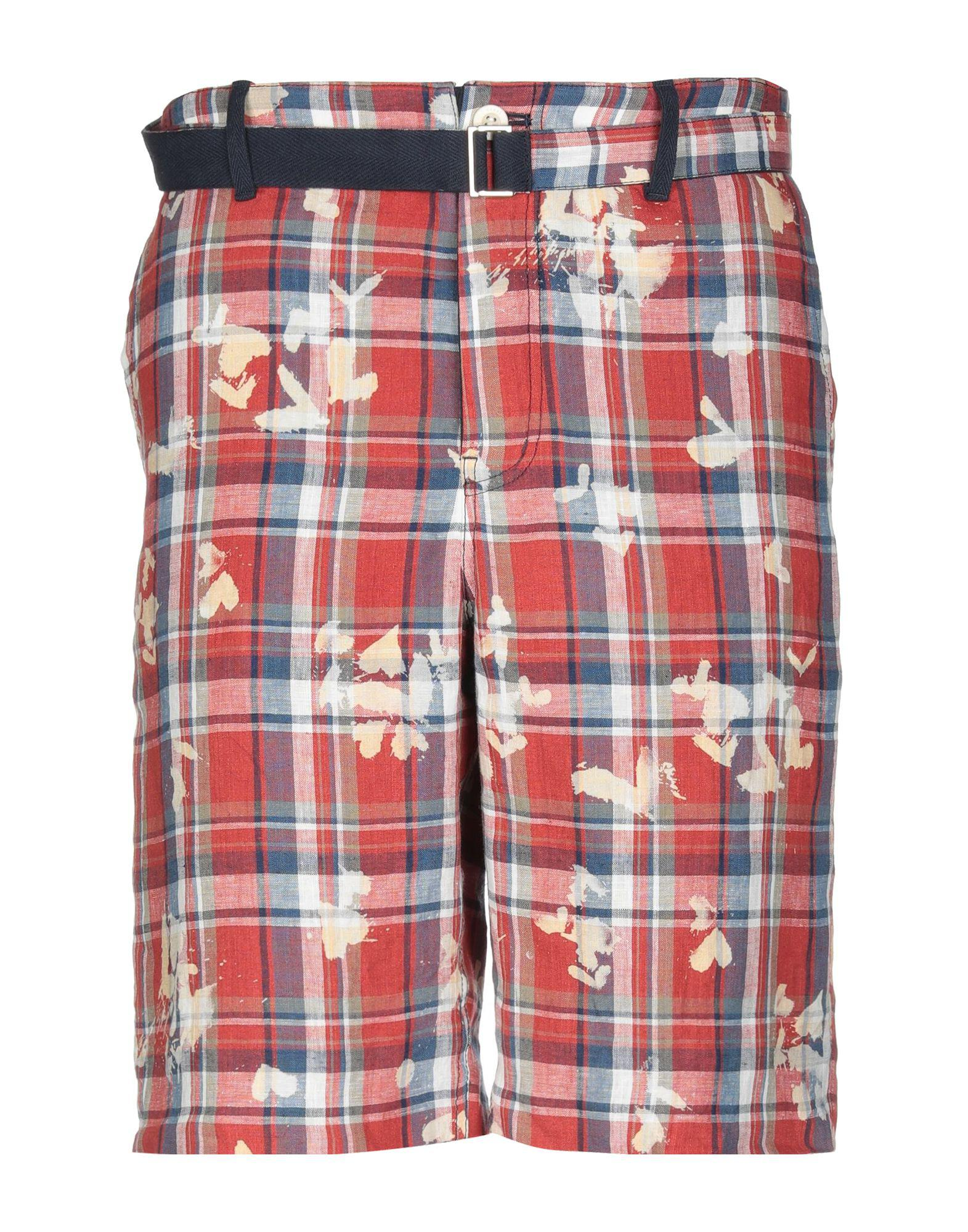 dfc9cbb9c752 Lyst - Sacai Bermuda Shorts in Red for Men