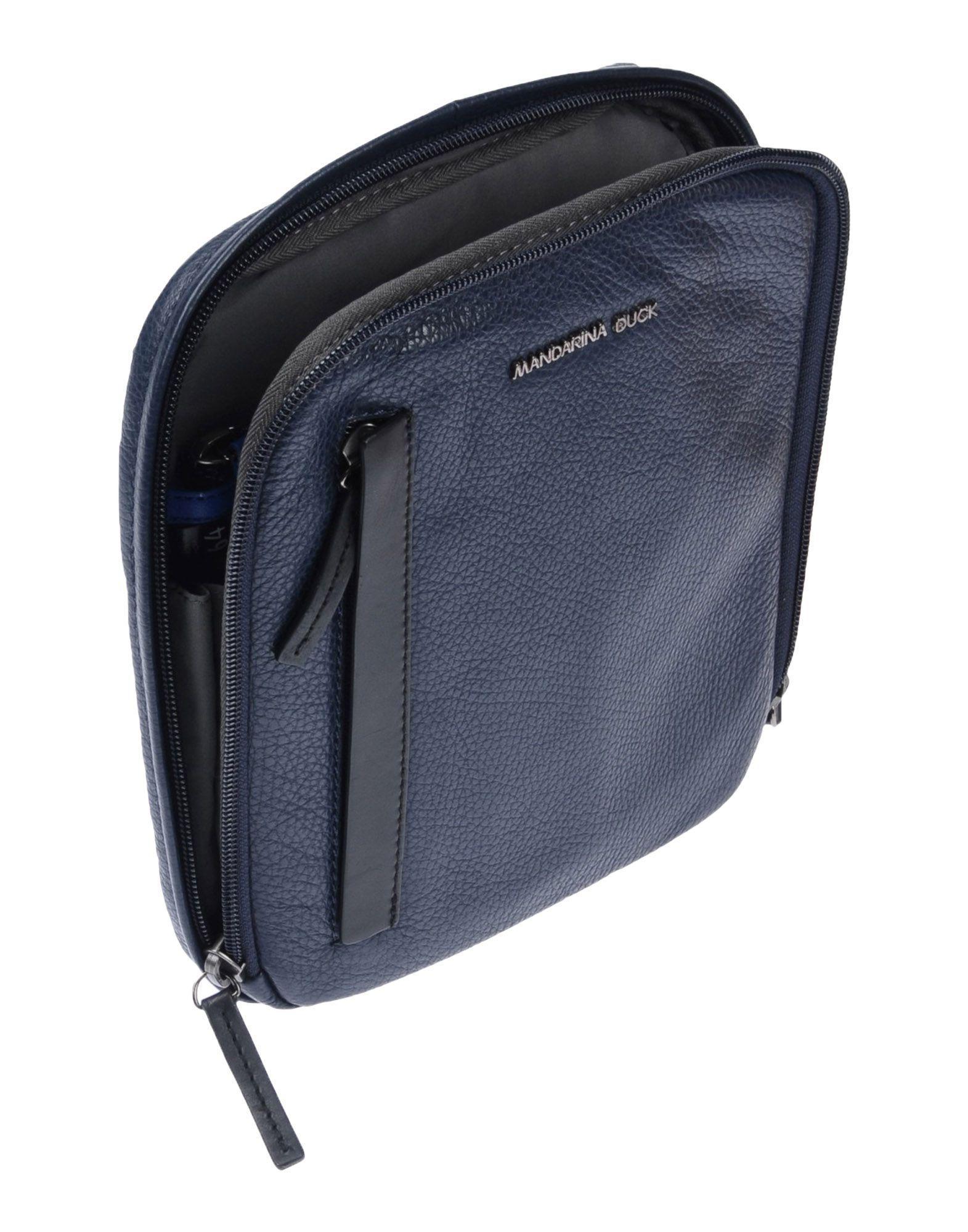Mandarina Duck Leather Cross-body Bag in Dark Blue (Blue) for Men