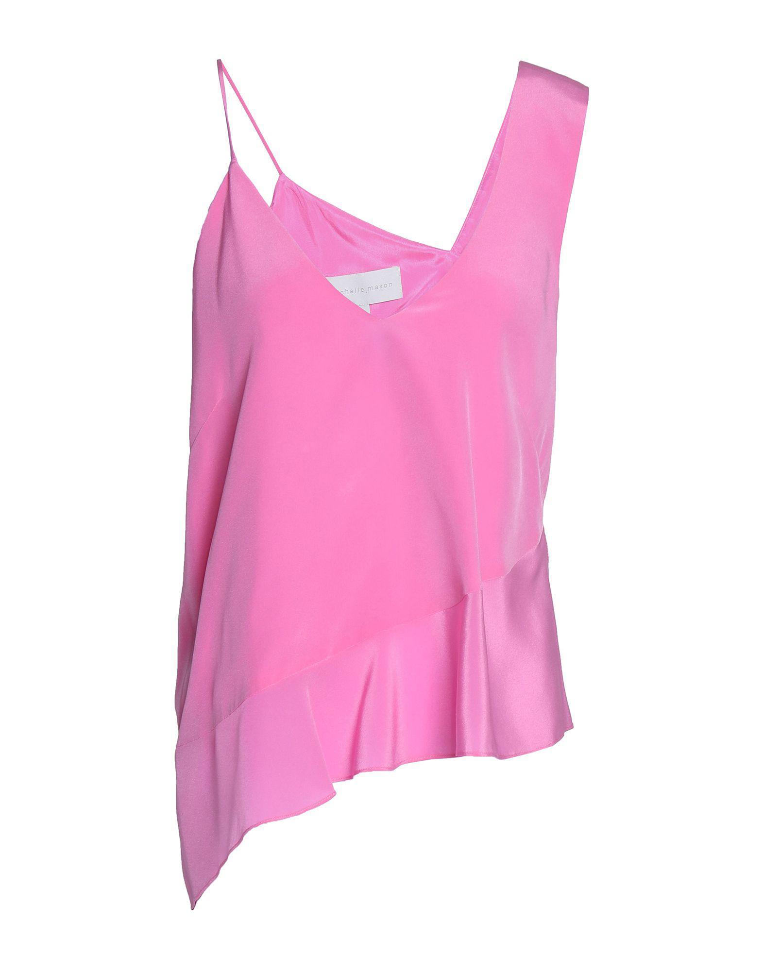 57b185f7f9cb45 Lyst - Michelle Mason Top in Pink - Save 20%