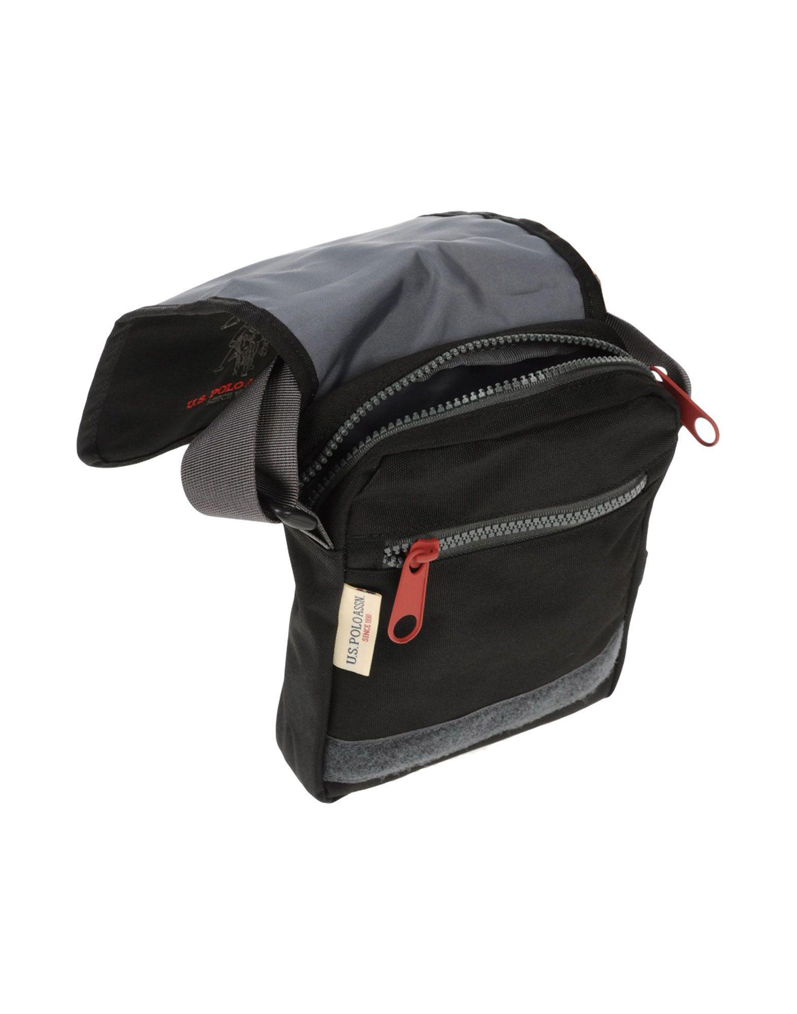 U.S. POLO ASSN. Canvas Cross-body Bag in Black