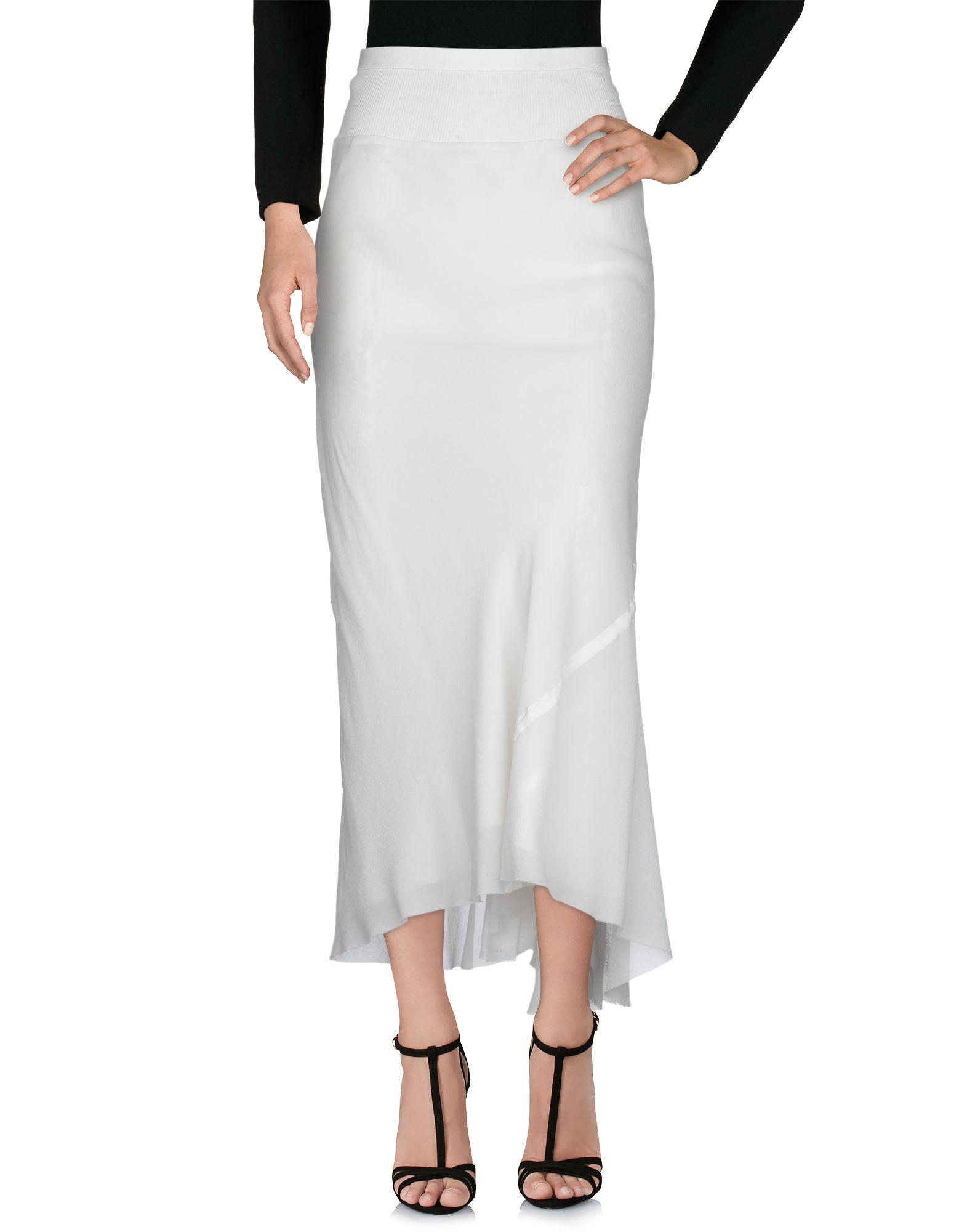 916985721c Rick Owens Long Skirts in White - Lyst