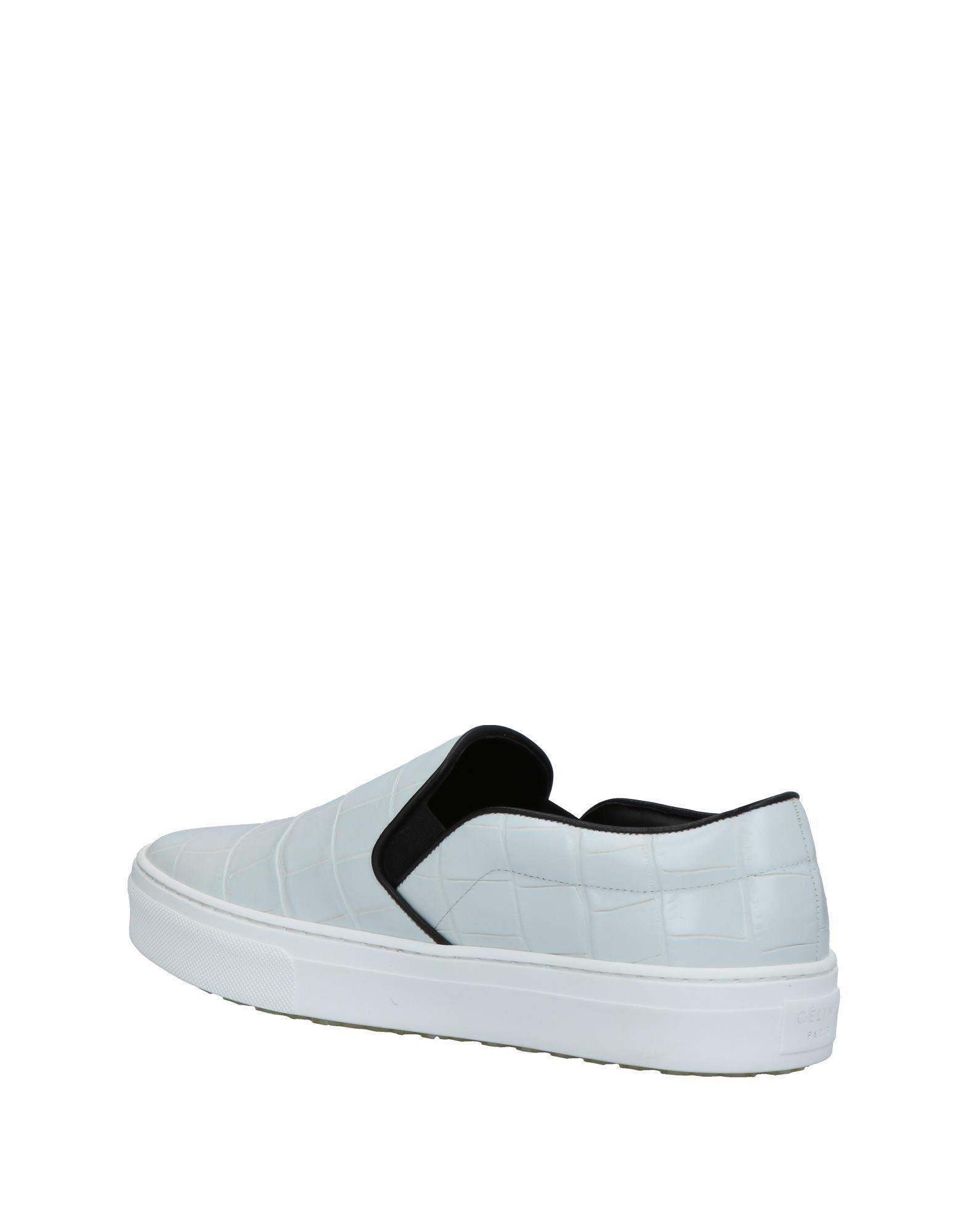 Celine Leather Low-tops & Sneakers in Light Grey (Grey)