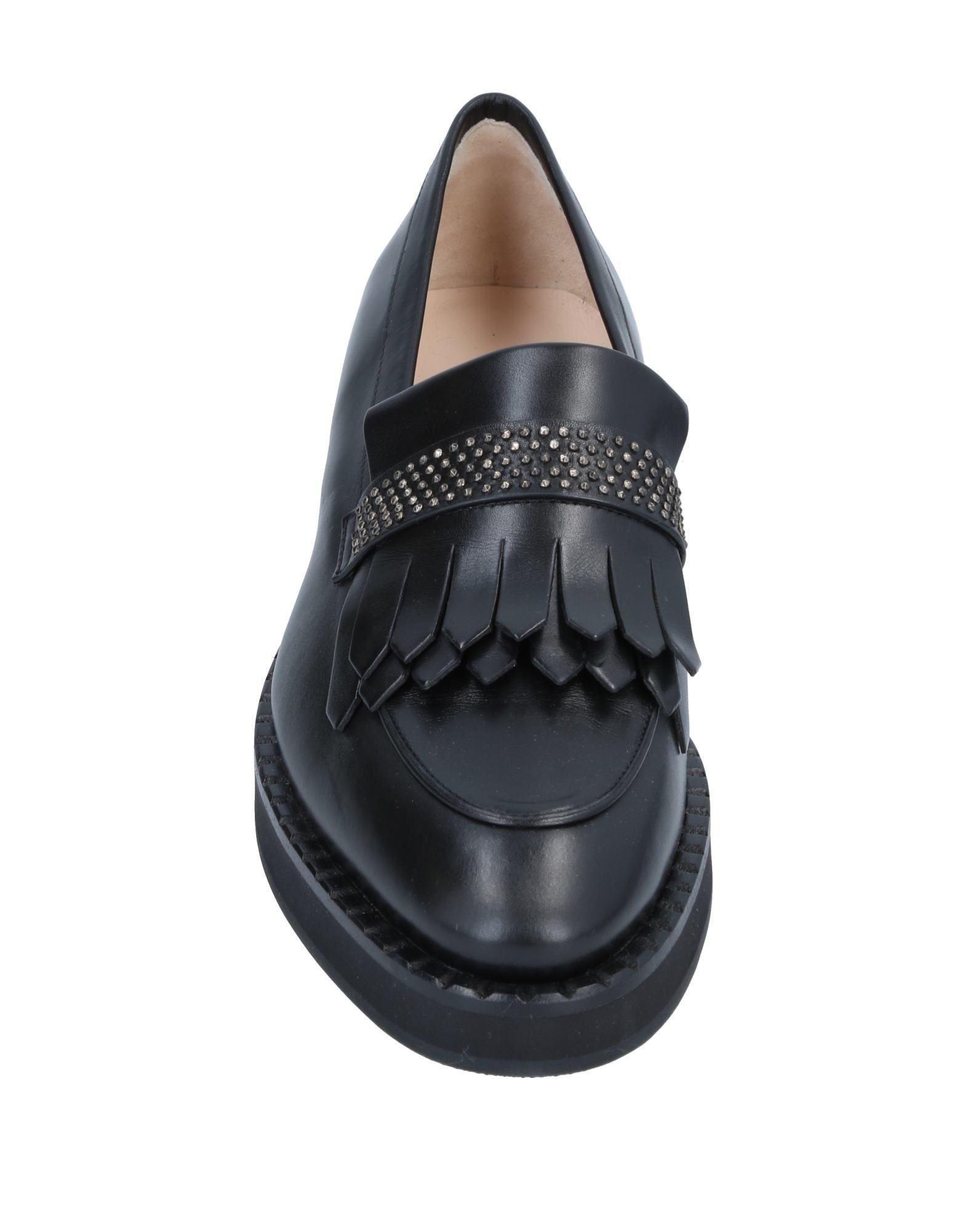 Mocasines Fabiana Filippi de Cuero de color Negro